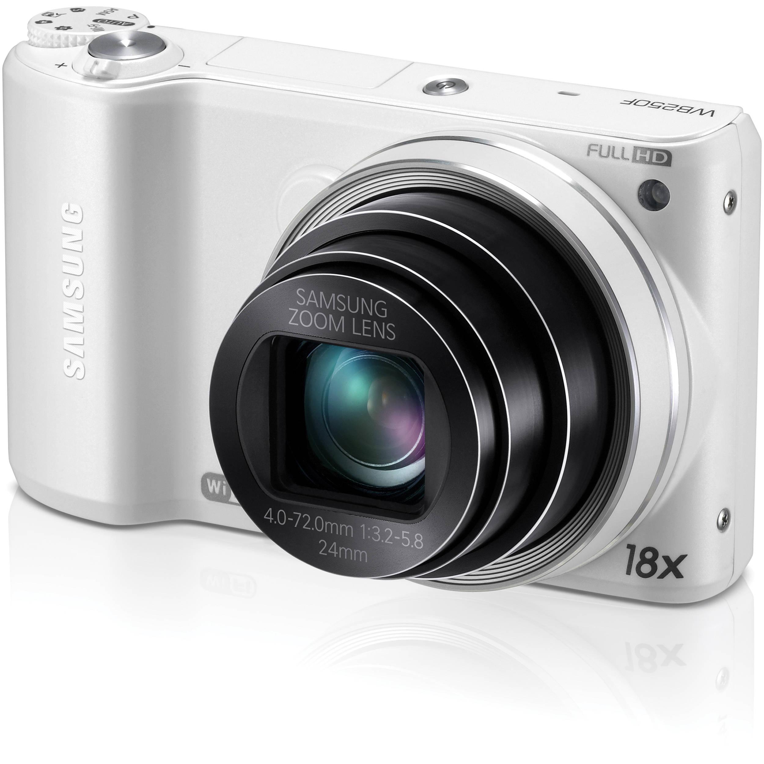 Samsung WB250F Smart Digital Camera (White) EC-WB250FFPWUS B&H