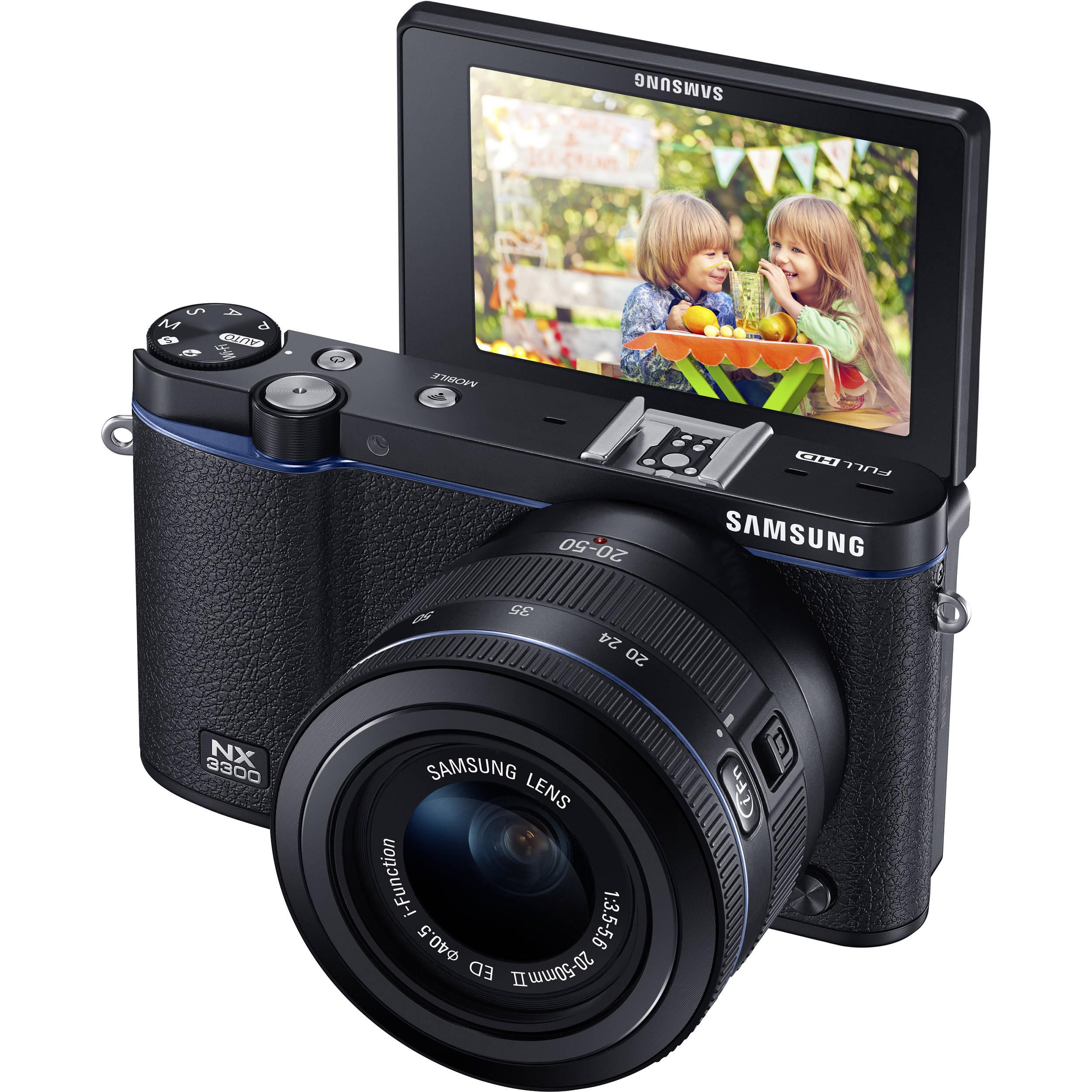 Samsung NX3300 Mirrorless Digital Camera EV-NX3300BEBUS B&H