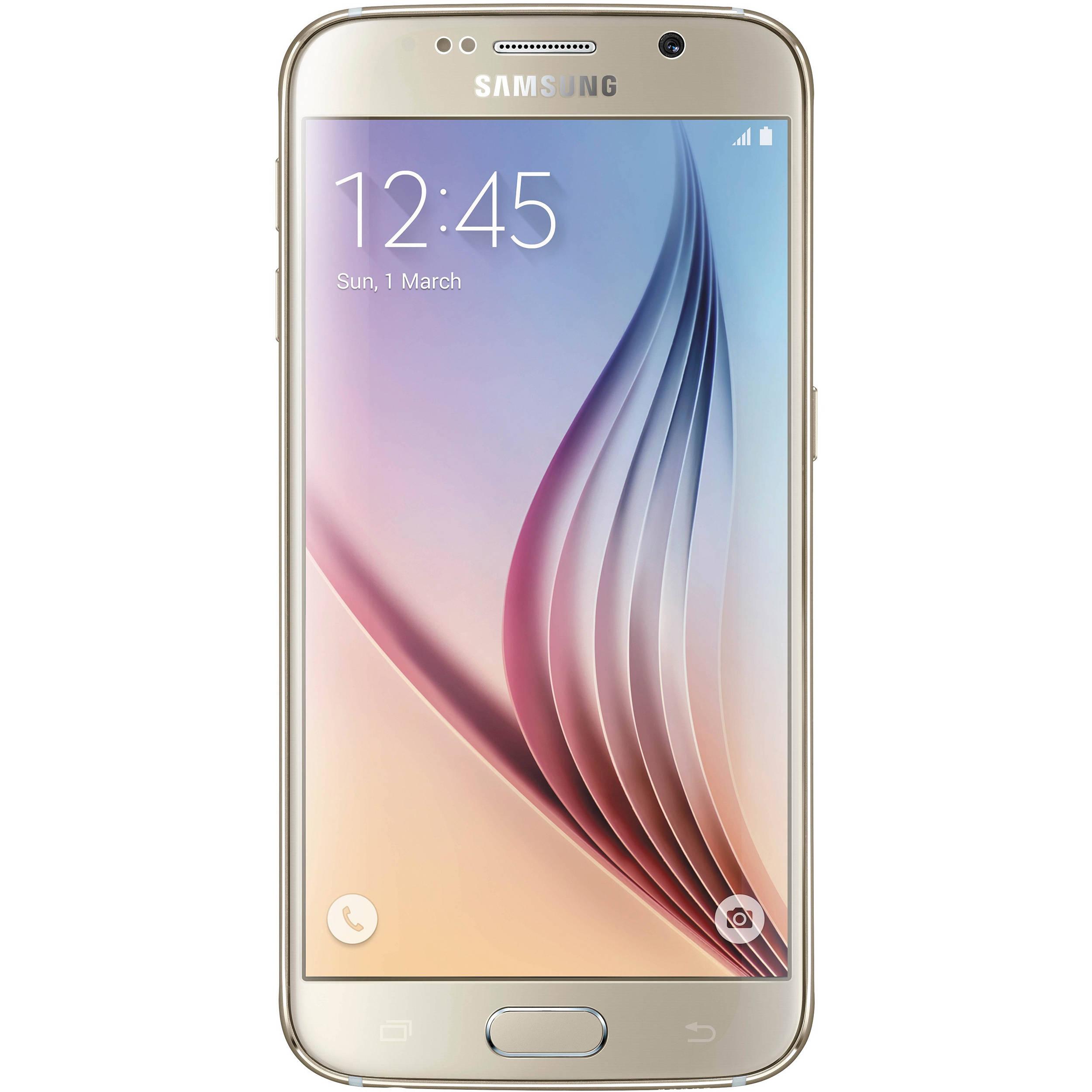 samsung galaxy s6 sm g920f 32gb smartphone g920f 32gb gold b h. Black Bedroom Furniture Sets. Home Design Ideas