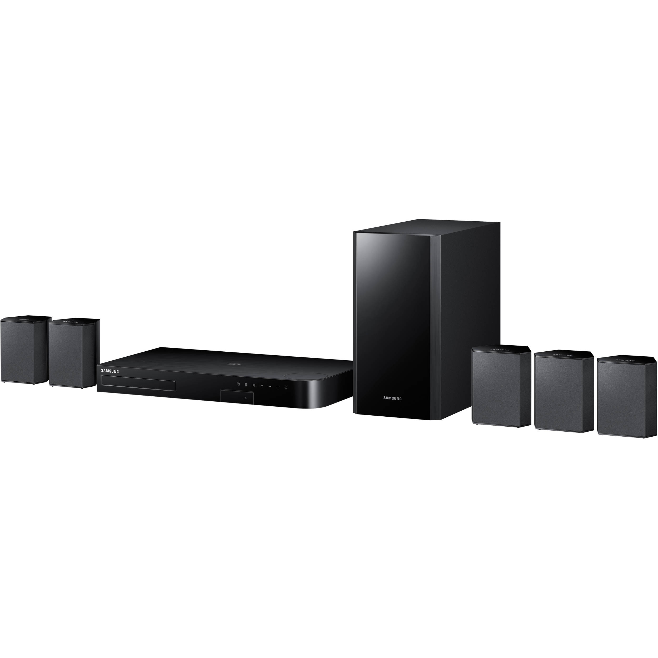 samsung ht j4500w 5 1 channel smart blu ray home ht j4500 za b h. Black Bedroom Furniture Sets. Home Design Ideas