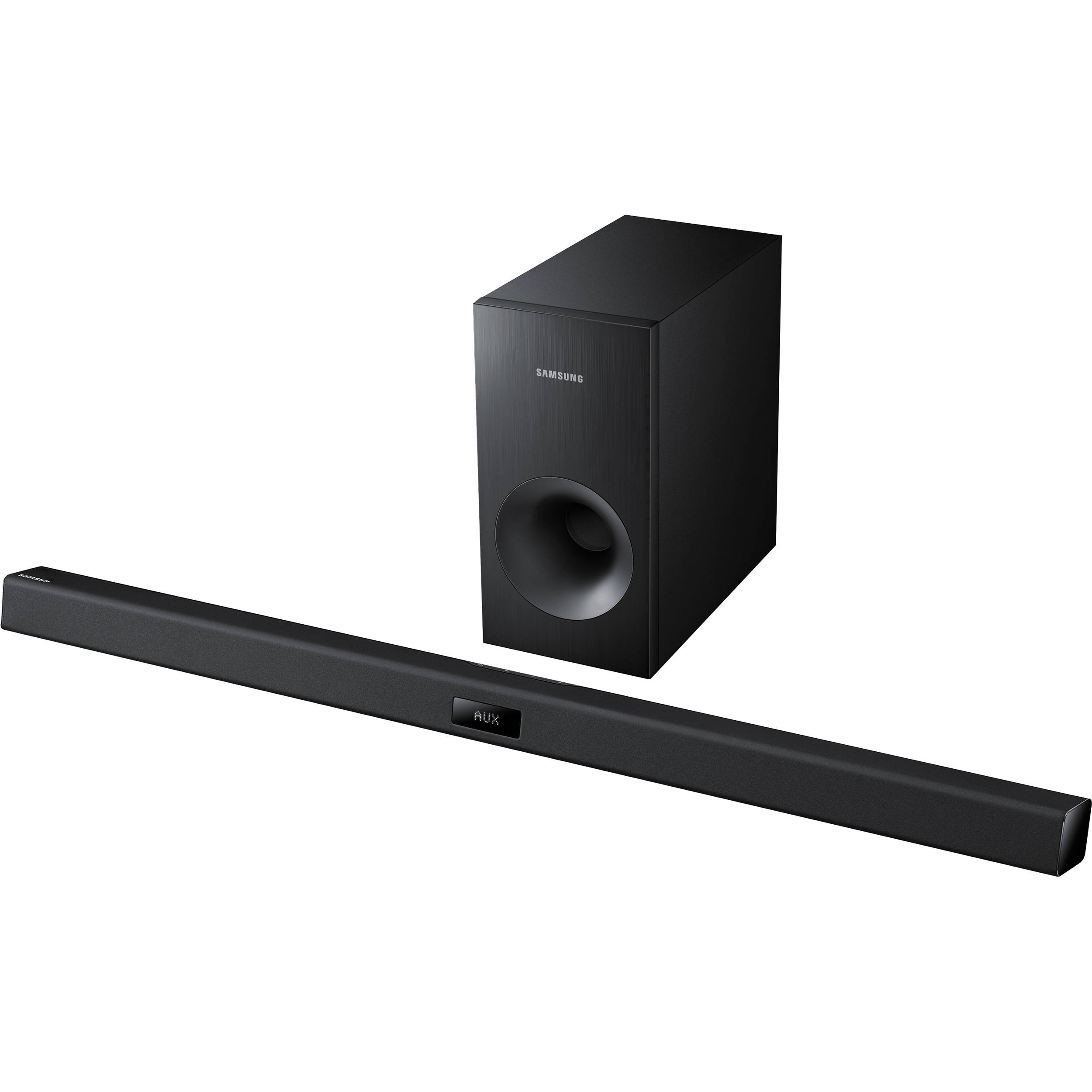 Samsung hw f355 2 1 channel sound bar system with wired hw for Samsung sound bar