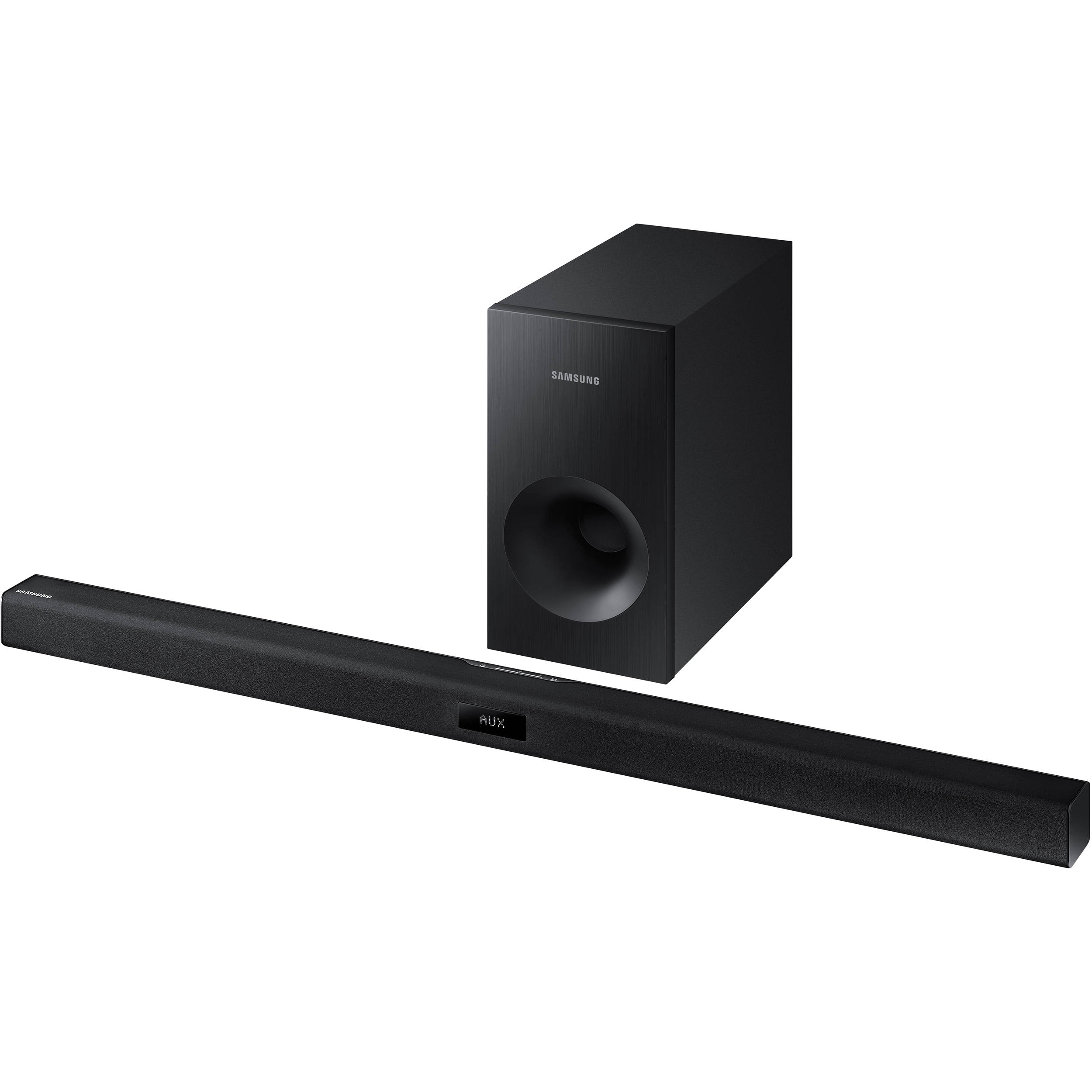 samsung hw j355 120w 2 1 channel soundbar speaker hw j355 za b h. Black Bedroom Furniture Sets. Home Design Ideas