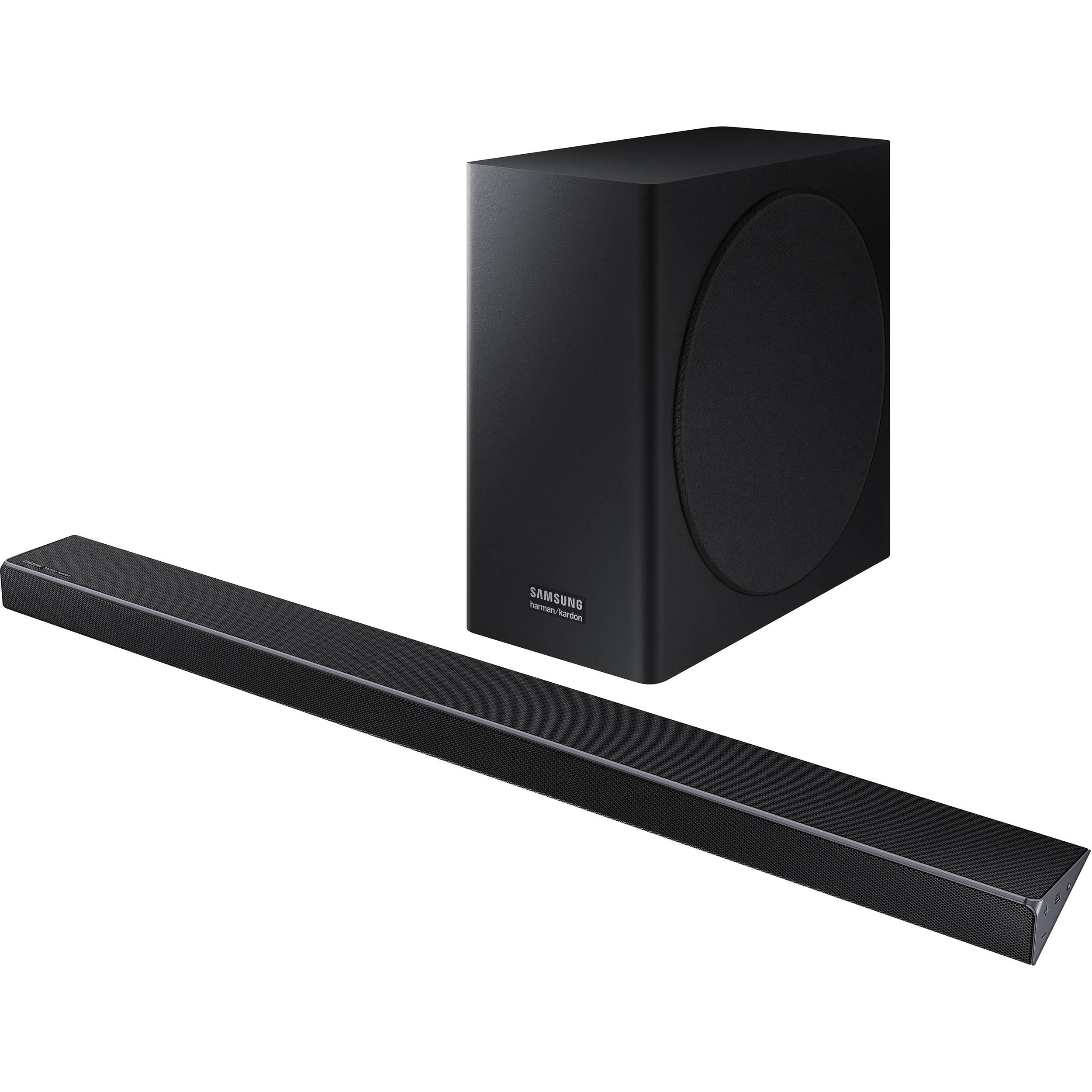 samsung hw q70r 330w 3 1 2 channel soundbar system hw q70r za. Black Bedroom Furniture Sets. Home Design Ideas