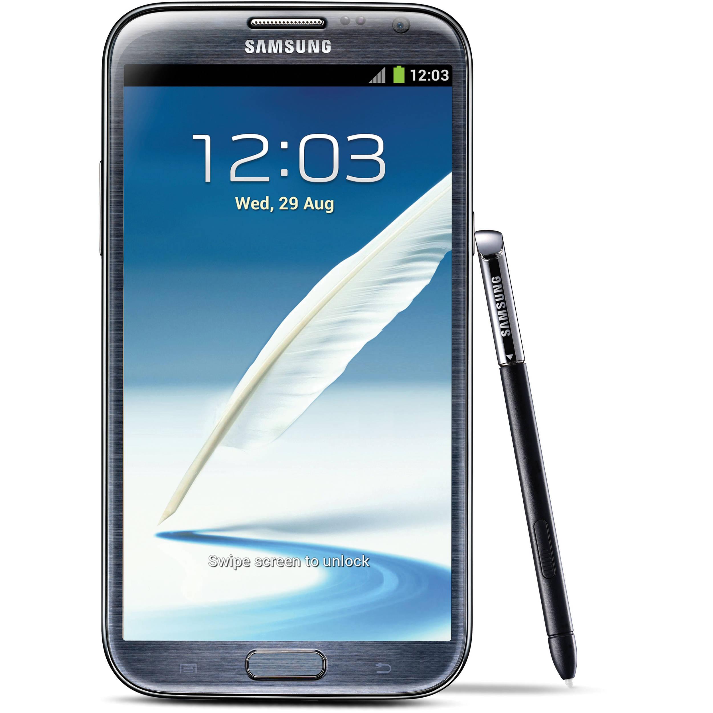 Samsung Galaxy Note 2 SGH-I317 16GB AT T Branded Smartphone (Unlocked,  Titanium) dc0ab24b03f2