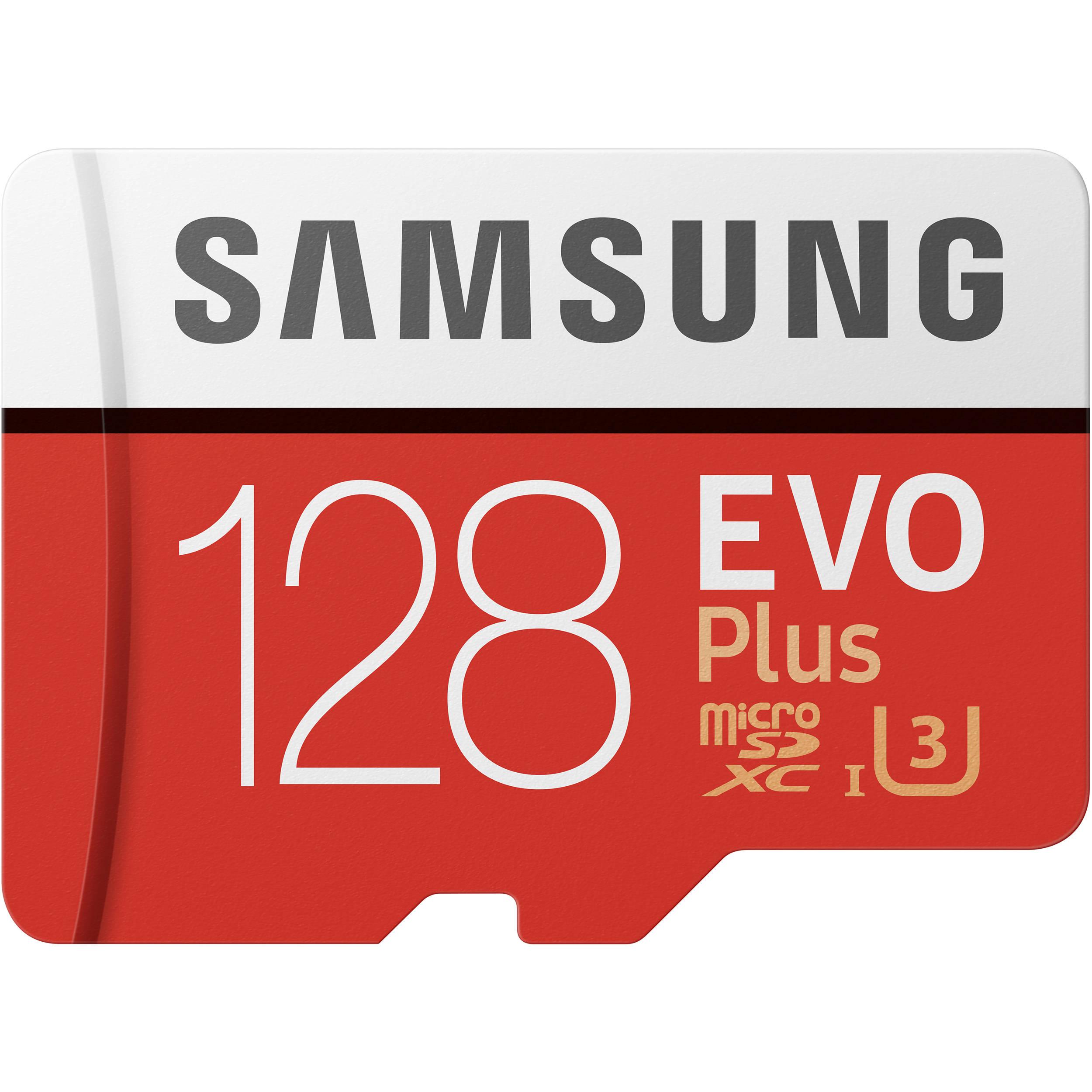 Samsung 128gb Evo Plus Uhs I Microsdxc Memory Card Mb Mc128ga Eu