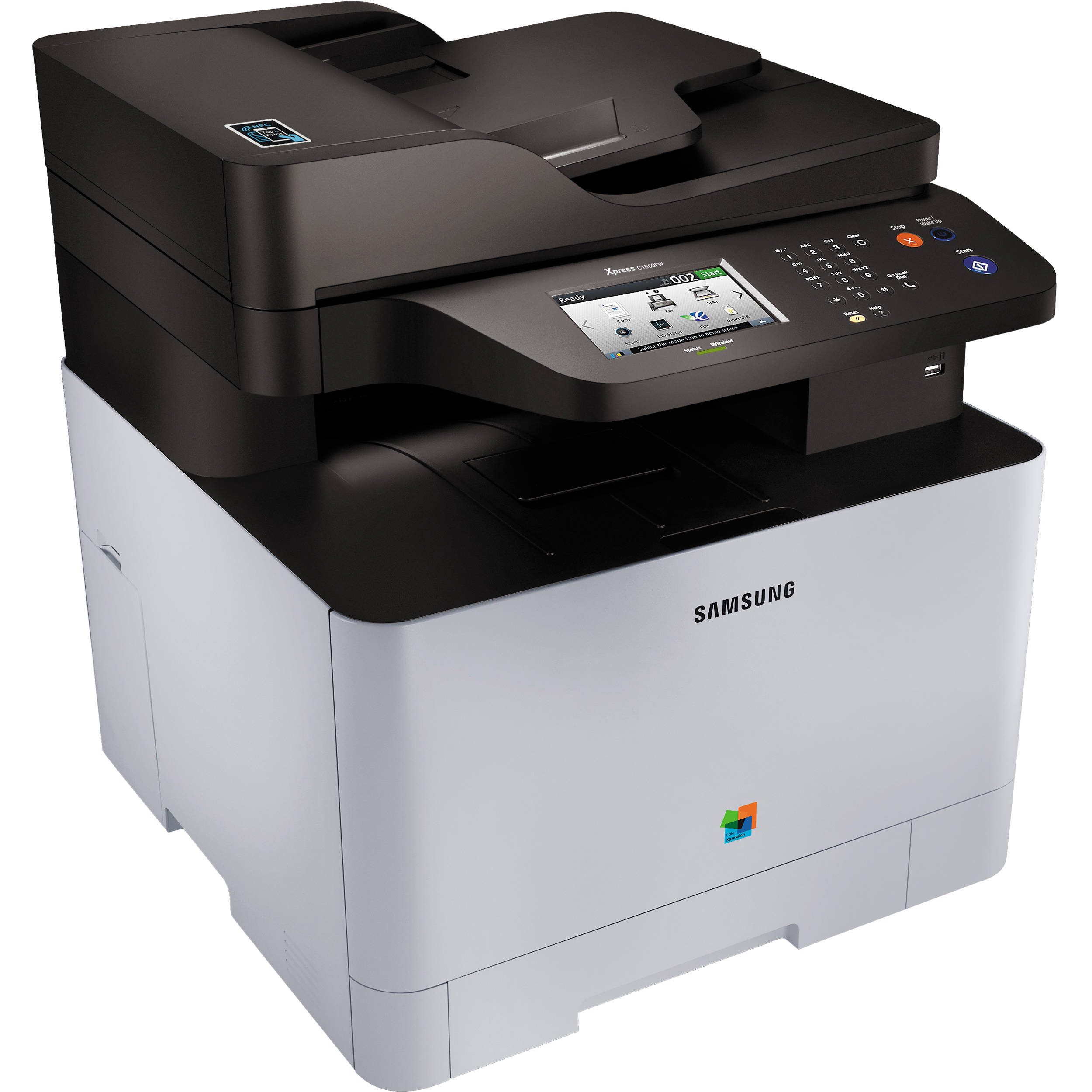 Color wireless printer laser - Samsung Xpress C1860fw Color All In One Laser Printer