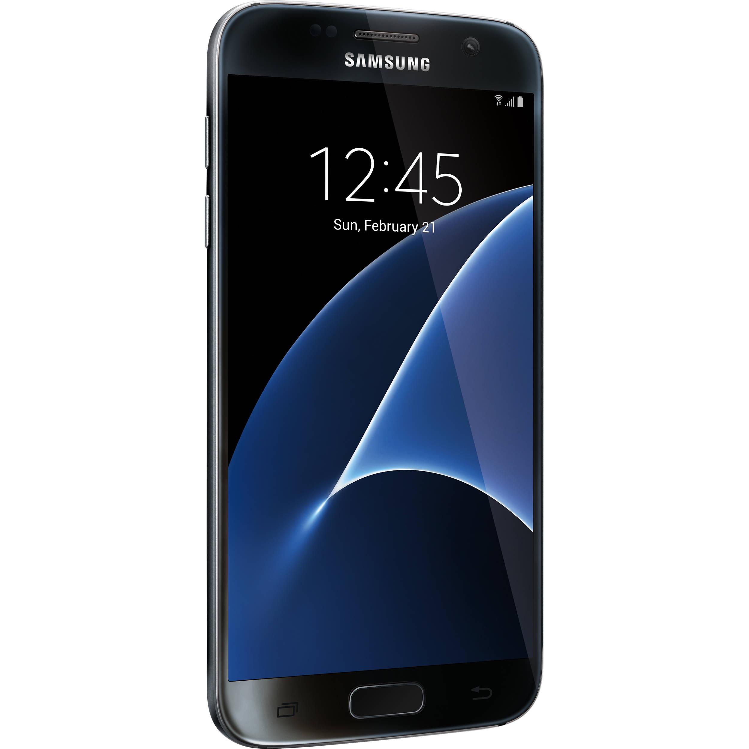 Samsung Galaxy S7 Sm G930u 32gb Smartphone Sm5g930uzkaxaa Bh Iphone 5 Apple Certified Pre Owned Unlocked Black