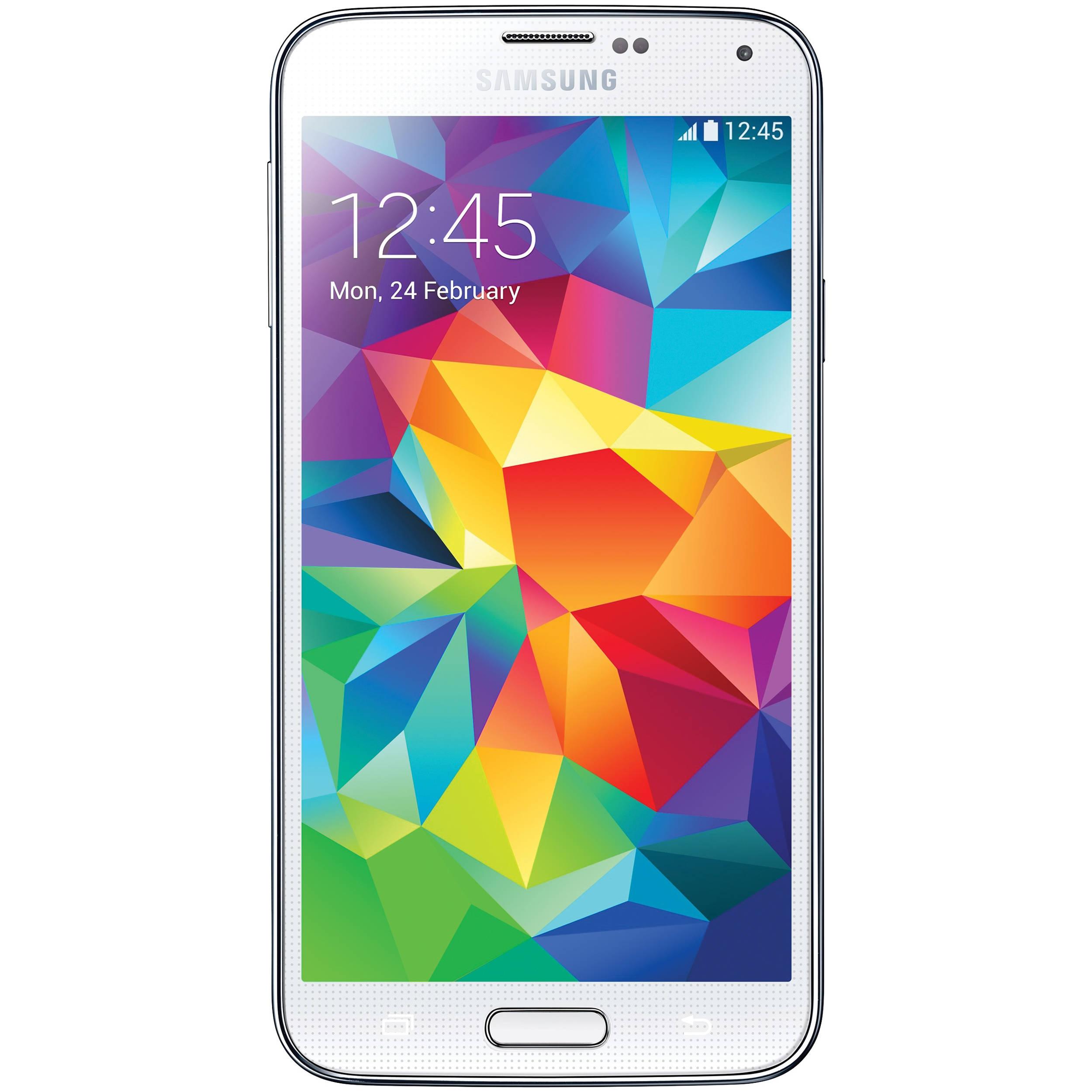 samsung galaxy s5 sm g900f 16gb smartphone sm g900f white b h. Black Bedroom Furniture Sets. Home Design Ideas