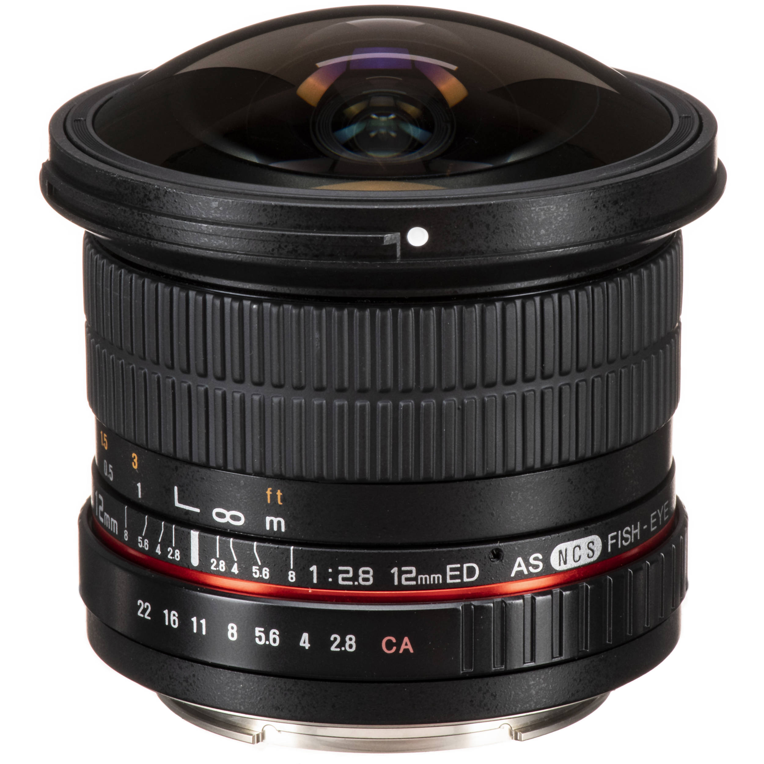 Samyang 12mm f/2.8 ED AS NCS Fisheye Lens for Canon EF SY12M-C