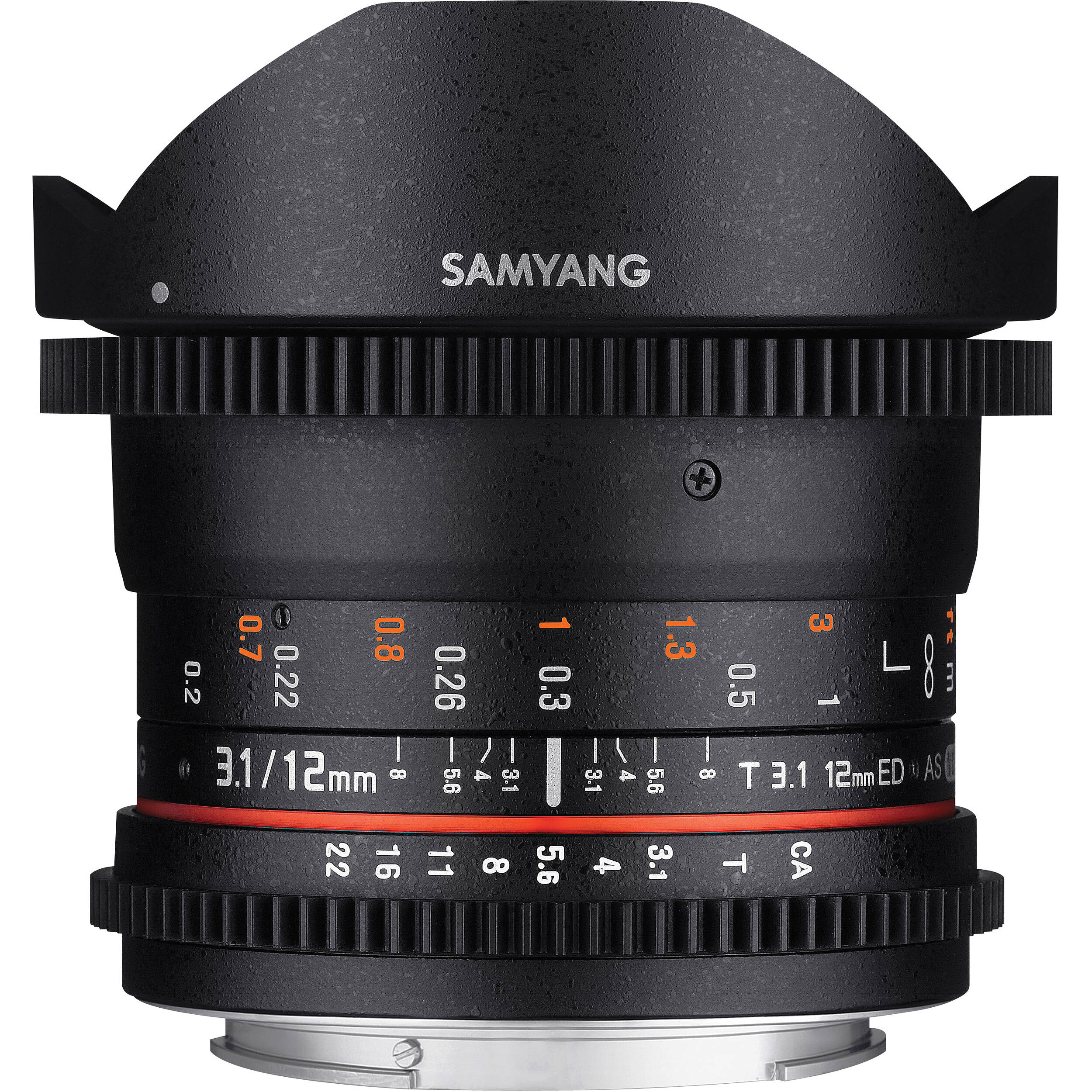 Samyang 12mm t3 1 vdslr cine fisheye lens for canon ef for Fish eye lense