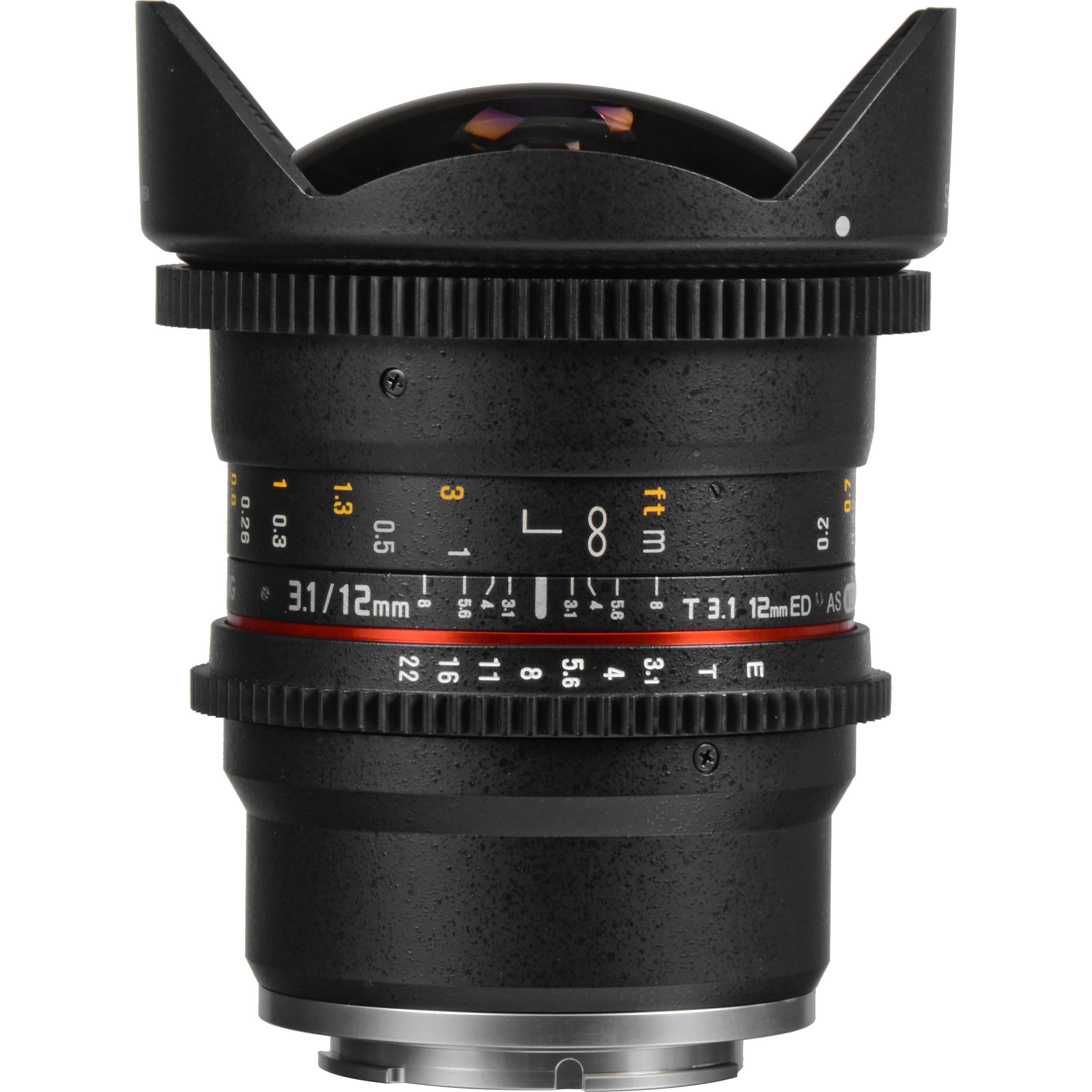 how to use samyang 12mm fisheye lens