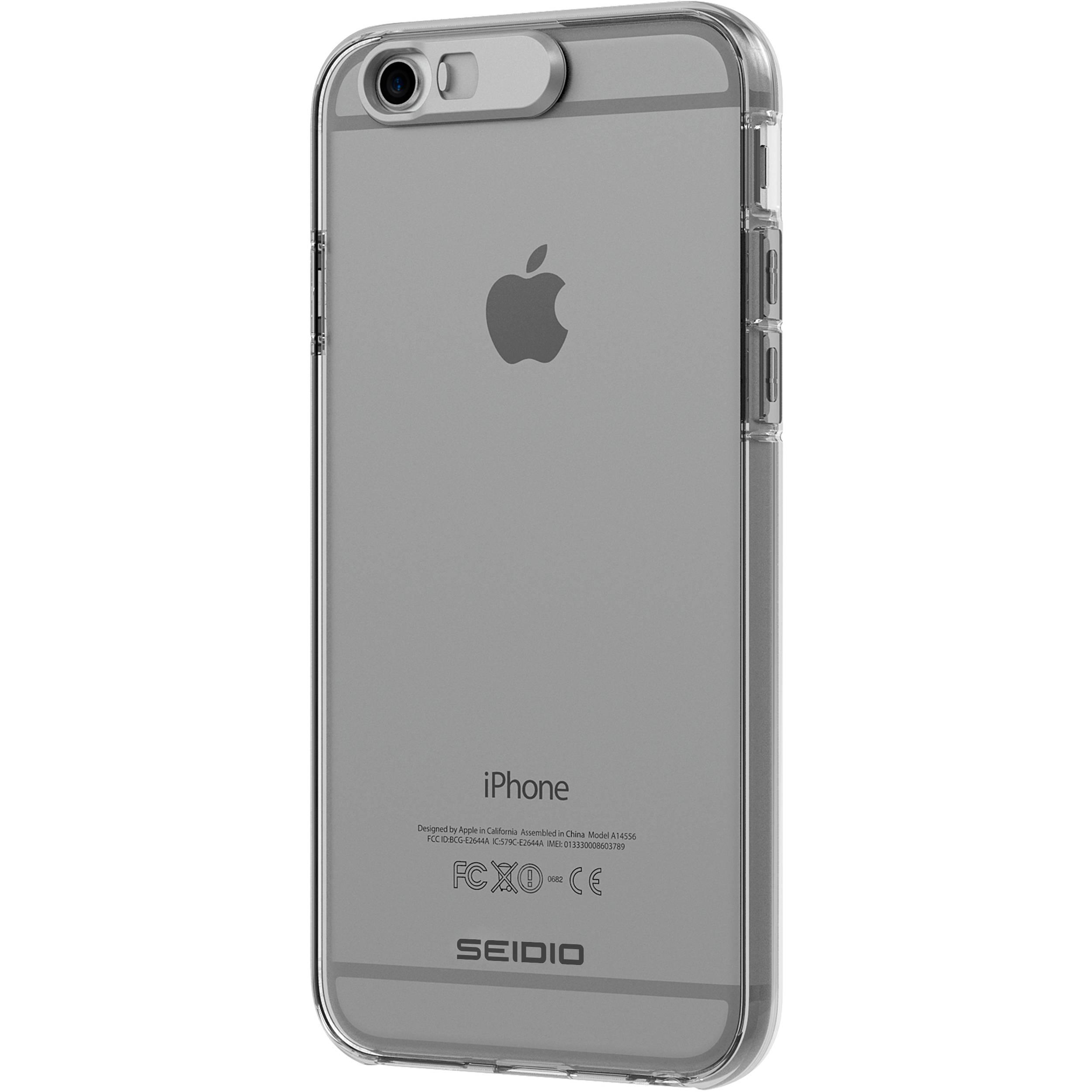 seidio luma case for iphone 6 6s clear csliph6 b h photo video. Black Bedroom Furniture Sets. Home Design Ideas