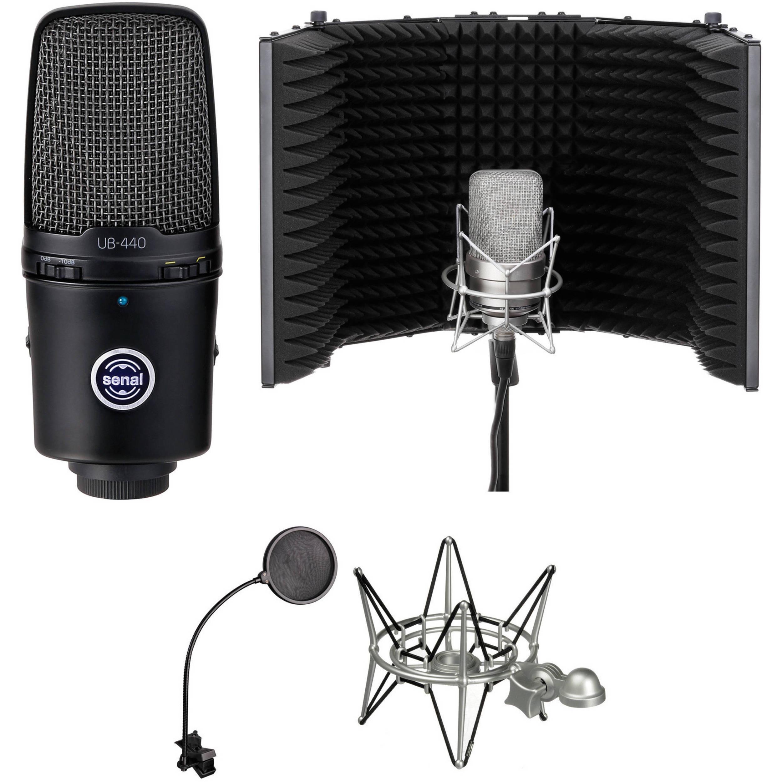senal ub 440 usb mic desktop recording kit ub 440 k2 b h photo. Black Bedroom Furniture Sets. Home Design Ideas
