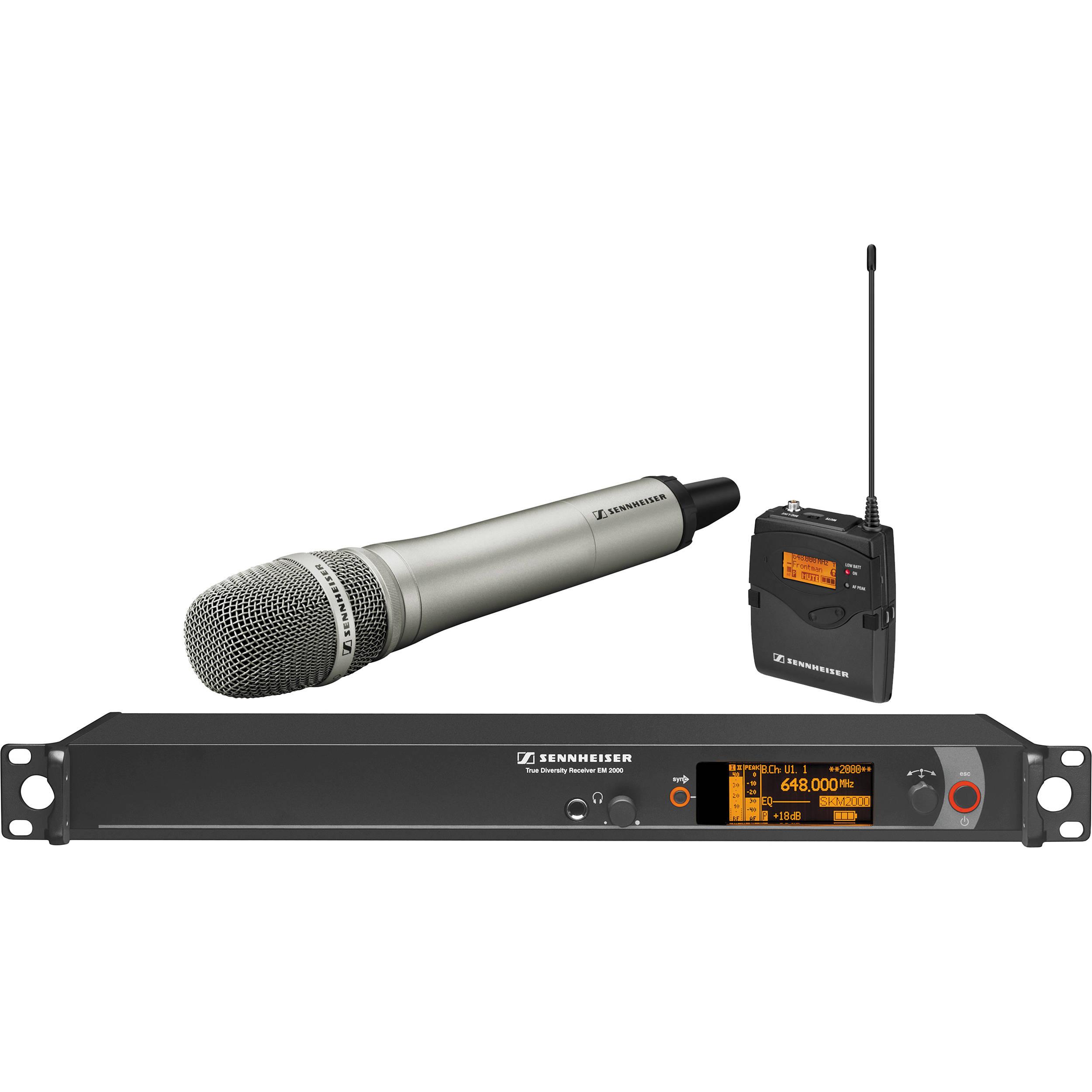 sennheiser 2000 series wireless microphone system 2000c1 204ni b rh bhphotovideo com sennheiser ew100 g2 wireless microphone manual Sennheiser Wireless Microphone Accessories