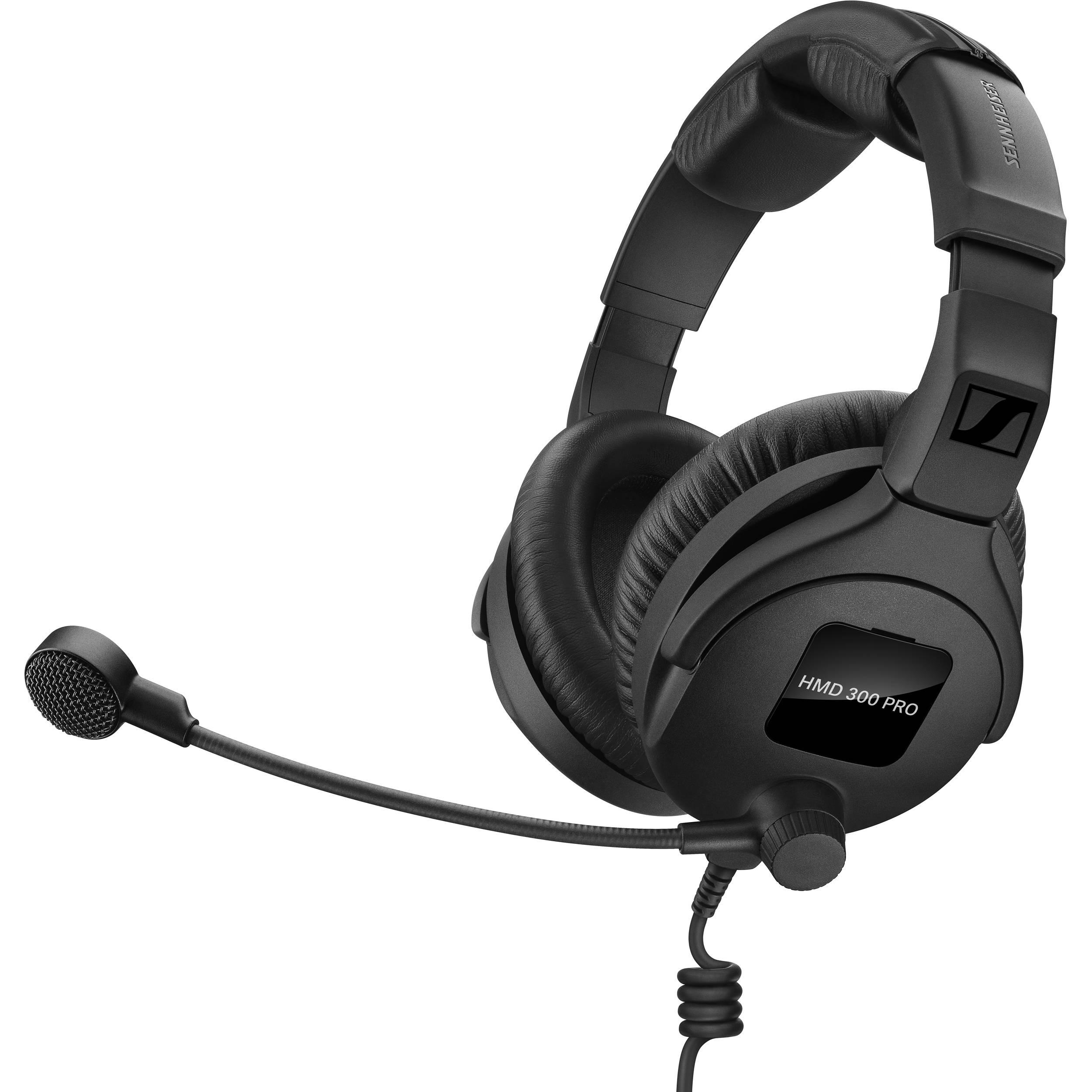 sennheiser hmd 300 pro headset with boom microphone 506900 b h. Black Bedroom Furniture Sets. Home Design Ideas