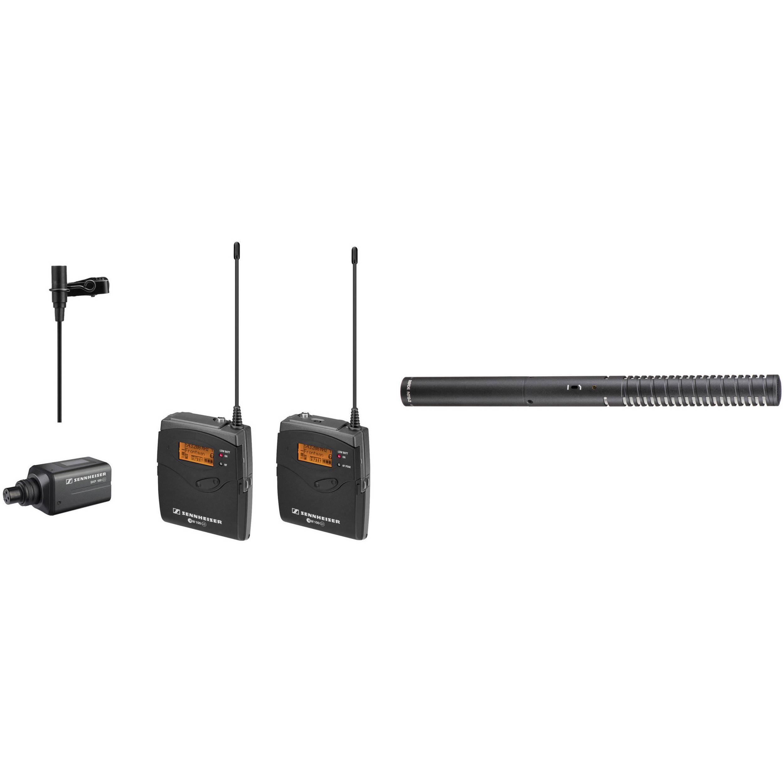 Sennheiser Ew 100 Eng G3 Wireless Combo Mic System And Rode Bh 15 Volt Tracking Transmitter Battery Phantom Shotgun
