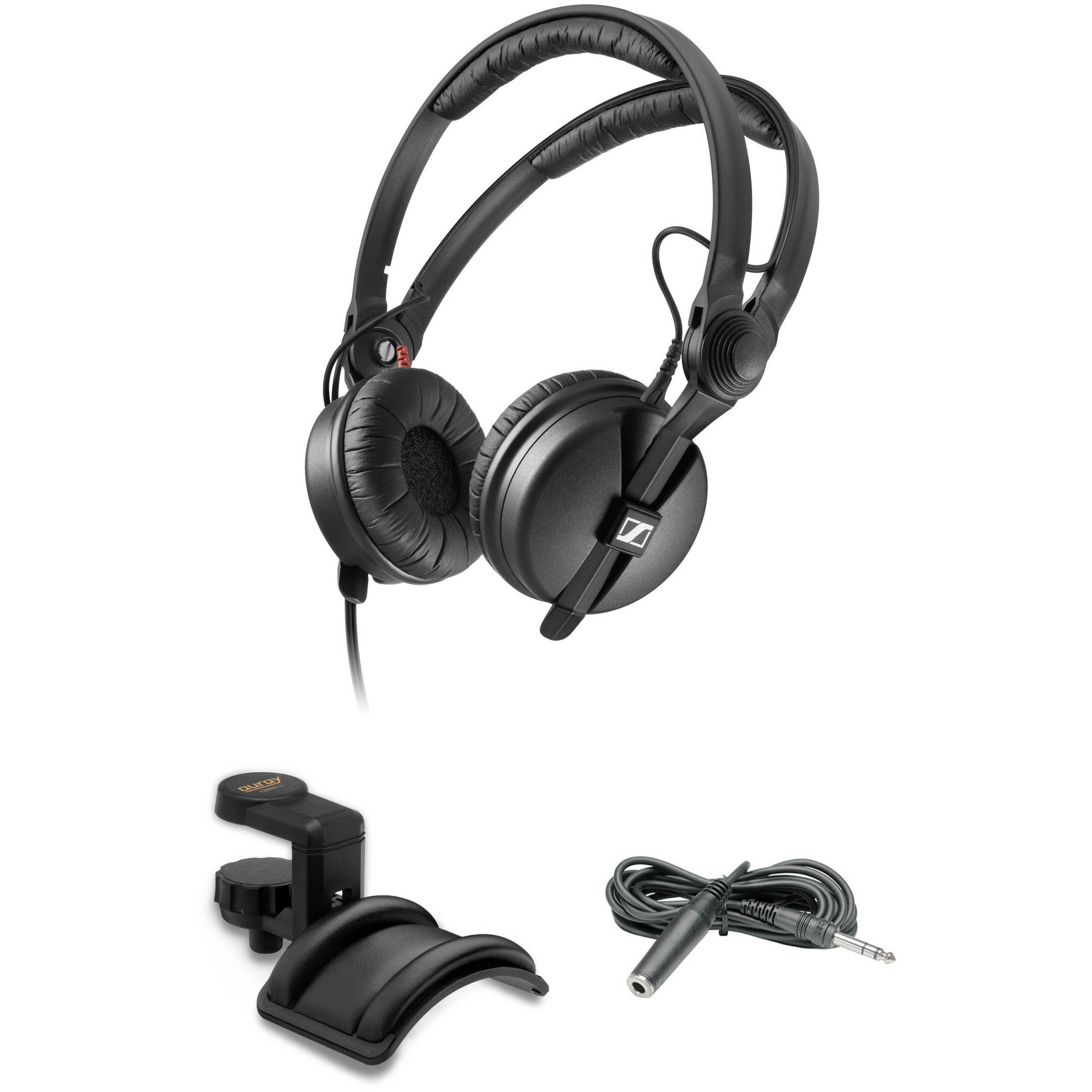 7598b783ad1 Sennheiser HD 25 PLUS Monitor Headphones Kit with Holder and Extension Cable