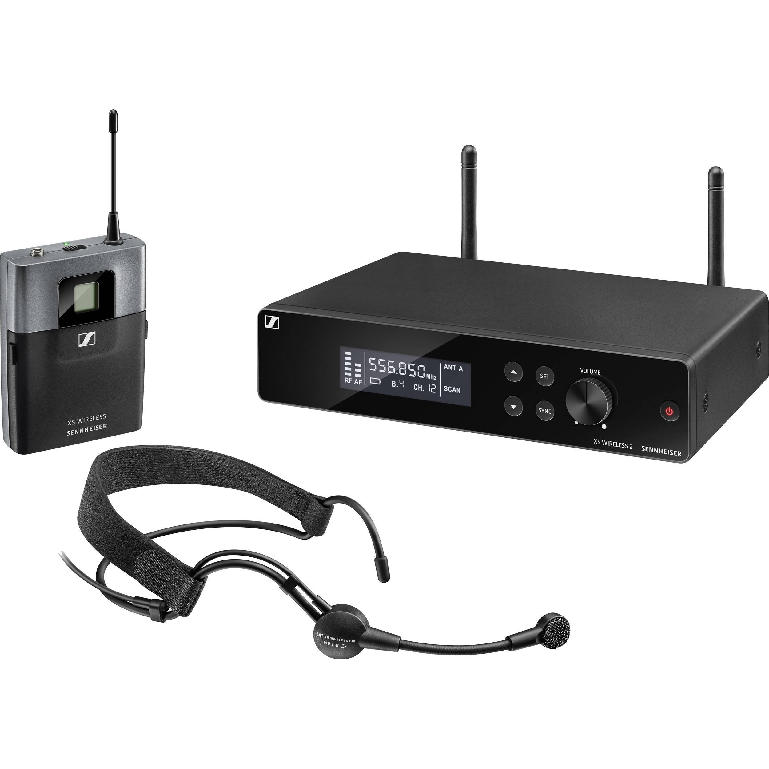 sennheiser xsw2 me3 wireless headset microphone xsw 2 me3 a b h. Black Bedroom Furniture Sets. Home Design Ideas