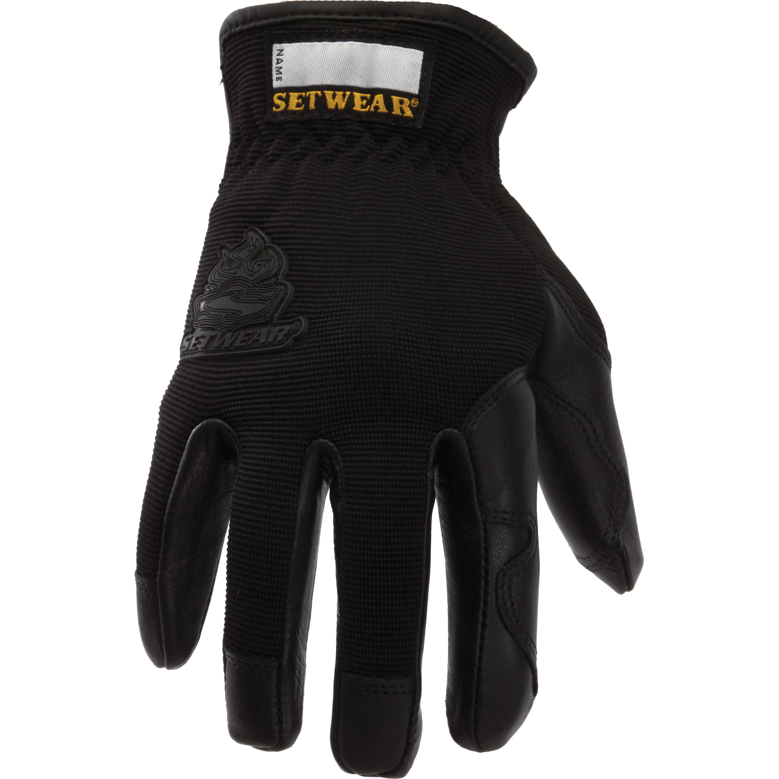 Black leather gloves small - Setwear Pro Leather Gloves X Small Black