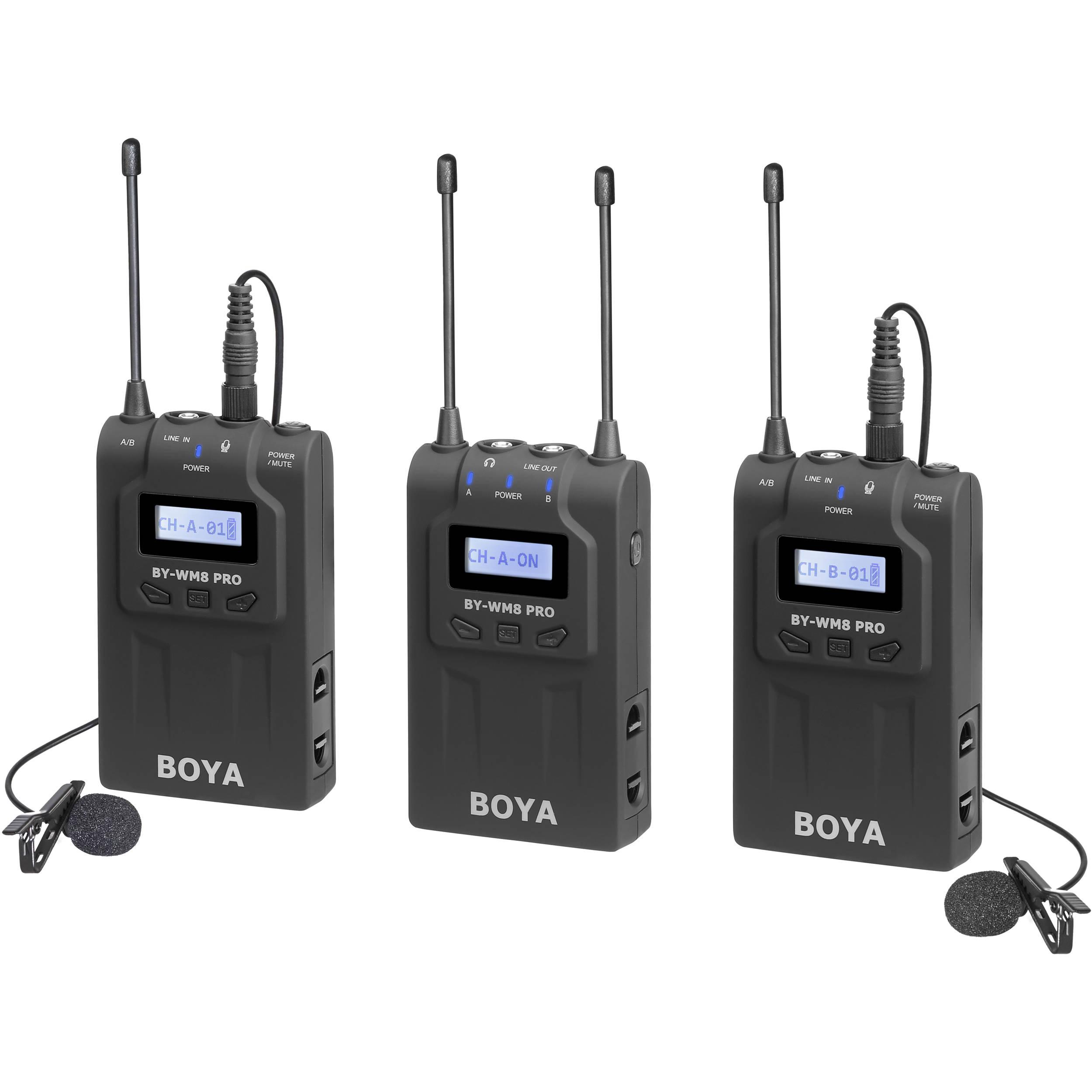 Boya By Wm8 Pro K2 Uhf Dual Channel Wireless Lavalier By Wm8 Pro