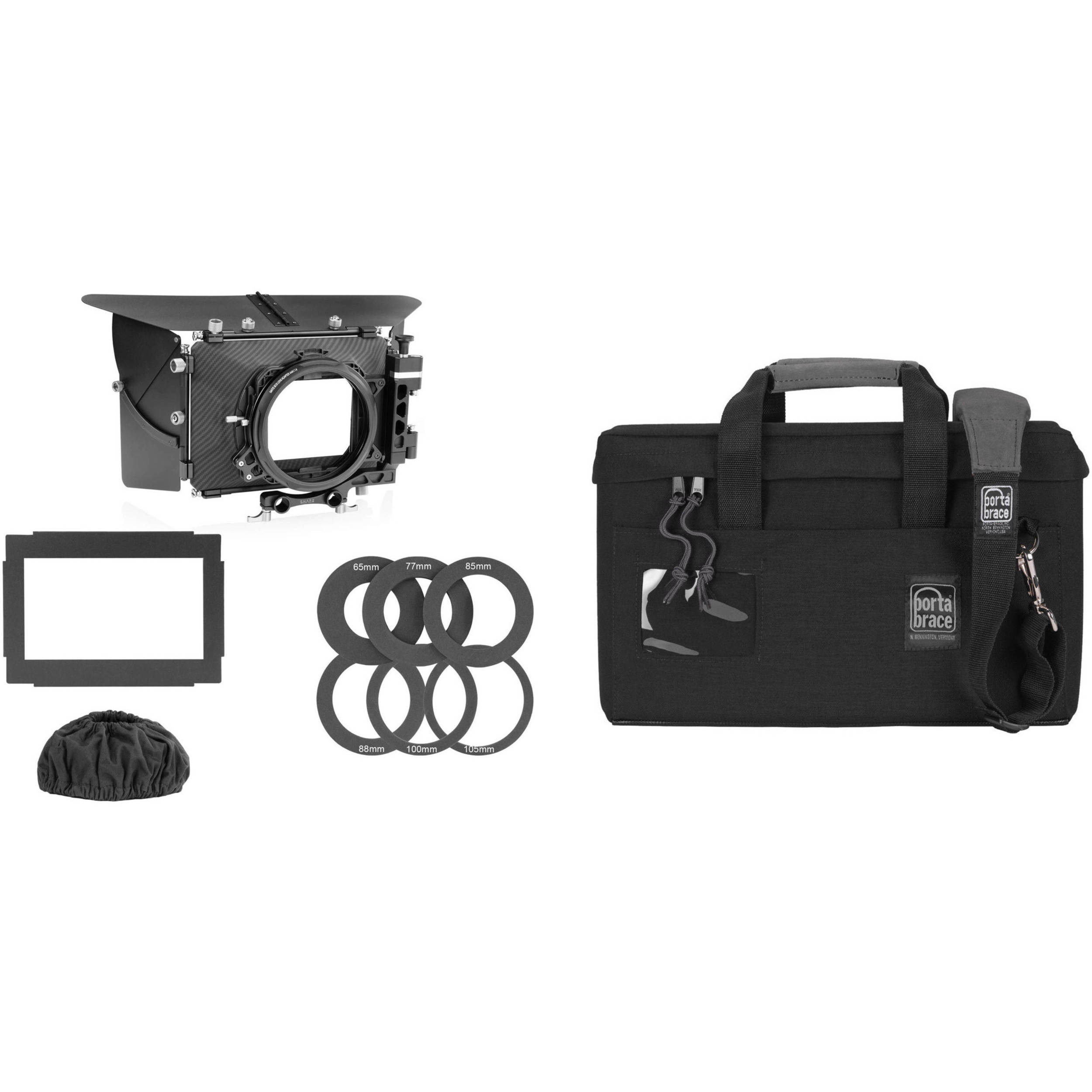 shape 2 stage 4 x 4 matte box with porta brace mb 1b case. Black Bedroom Furniture Sets. Home Design Ideas