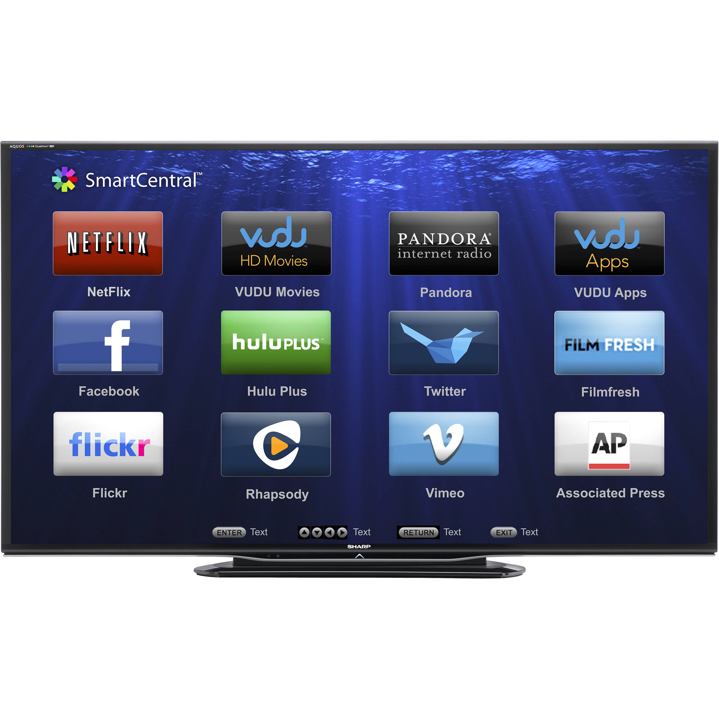 "sharp 80 lc 80le757u aquos full hd smart led lc 80le757u rh bhphotovideo com Sharp AQUOS 80 LED Television Sharp AQUOS 80"" 1080P"