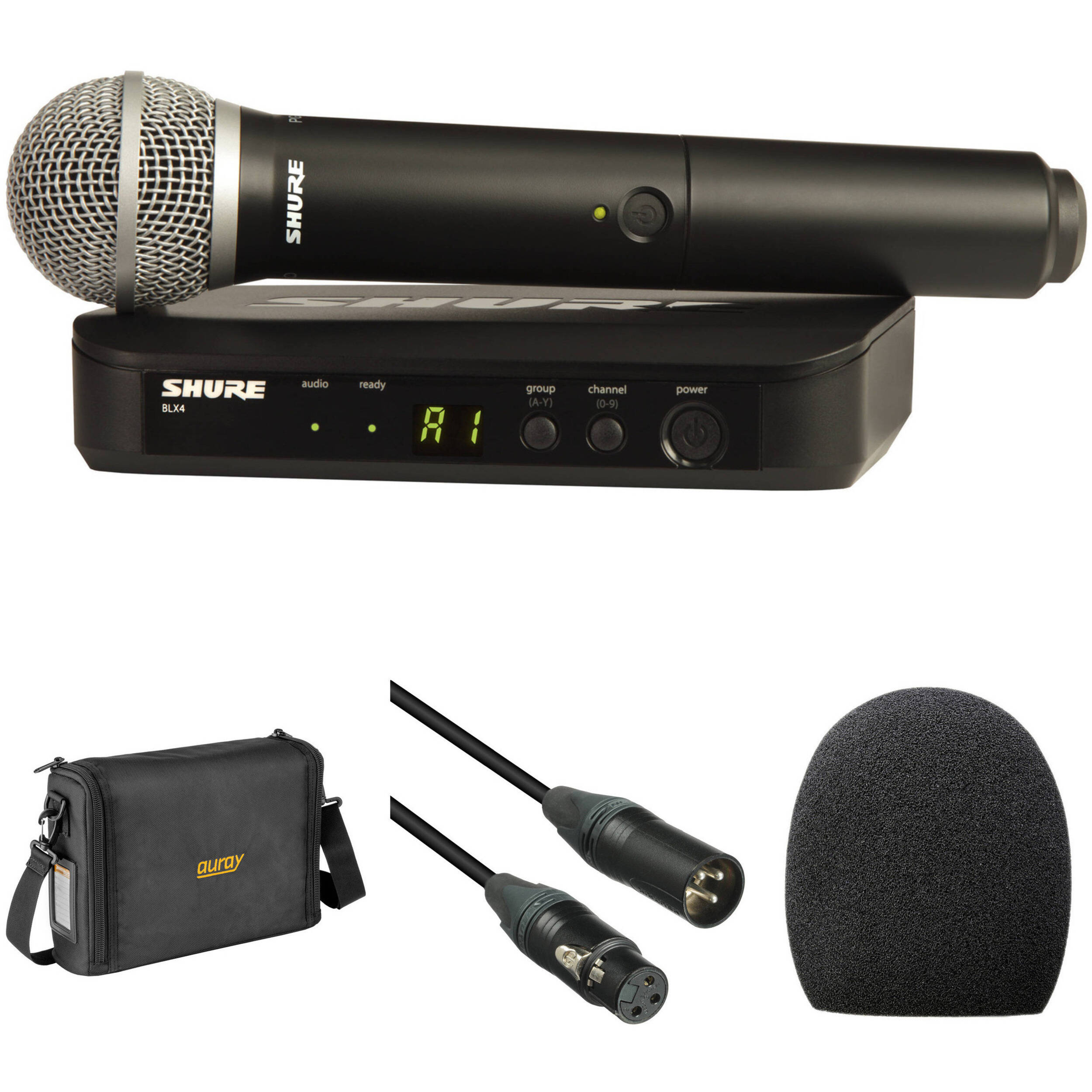 shure blx24 pg58 wireless handheld microphone system with pg58. Black Bedroom Furniture Sets. Home Design Ideas