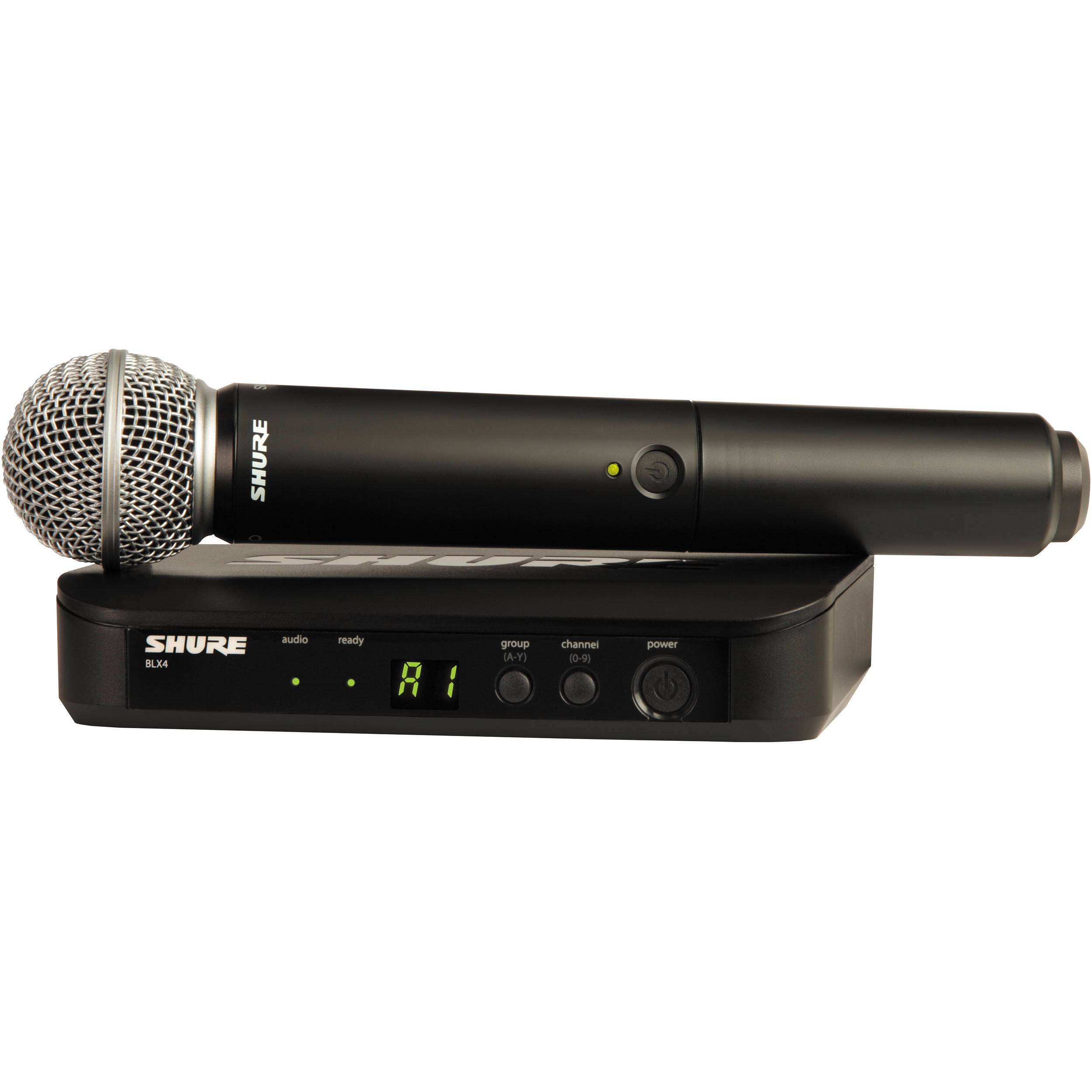 shure blx24 vocal wireless system with sm58 mic blx24 sm58 k12. Black Bedroom Furniture Sets. Home Design Ideas