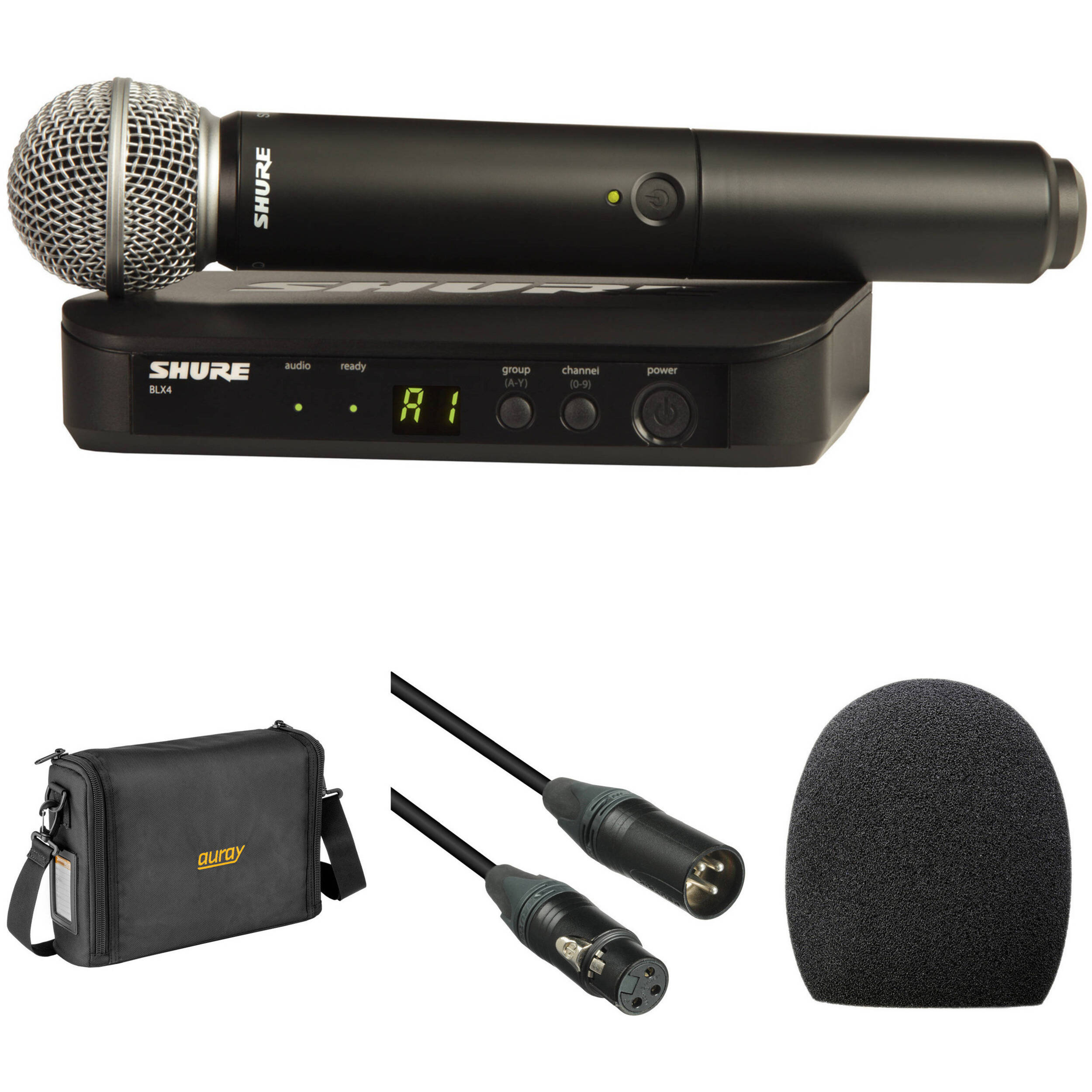 shure blx24 sm58 wireless handheld microphone system with sm58. Black Bedroom Furniture Sets. Home Design Ideas
