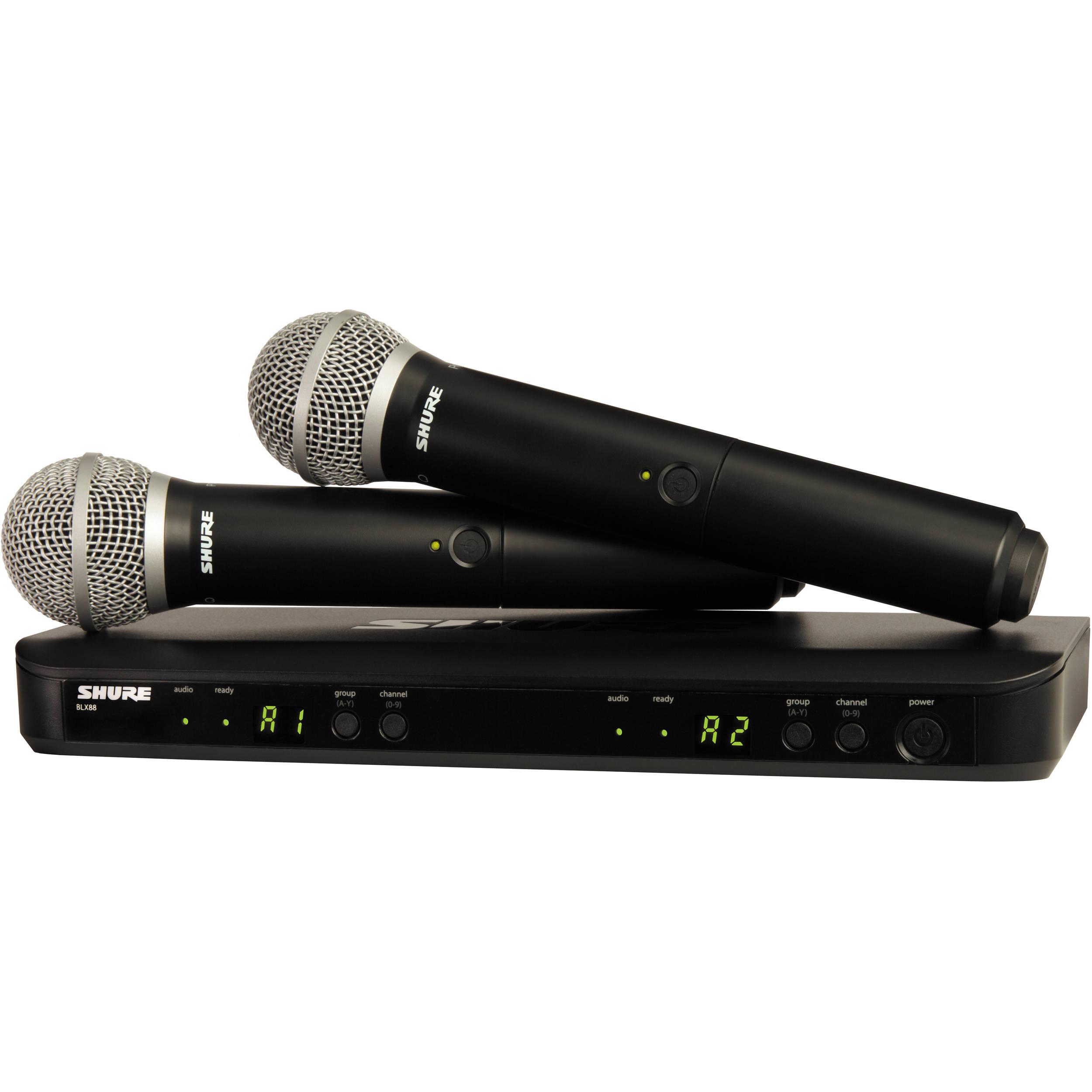 Shure BLX288/PG58 Dual-Transmitter Handheld BLX288/PG58 ...
