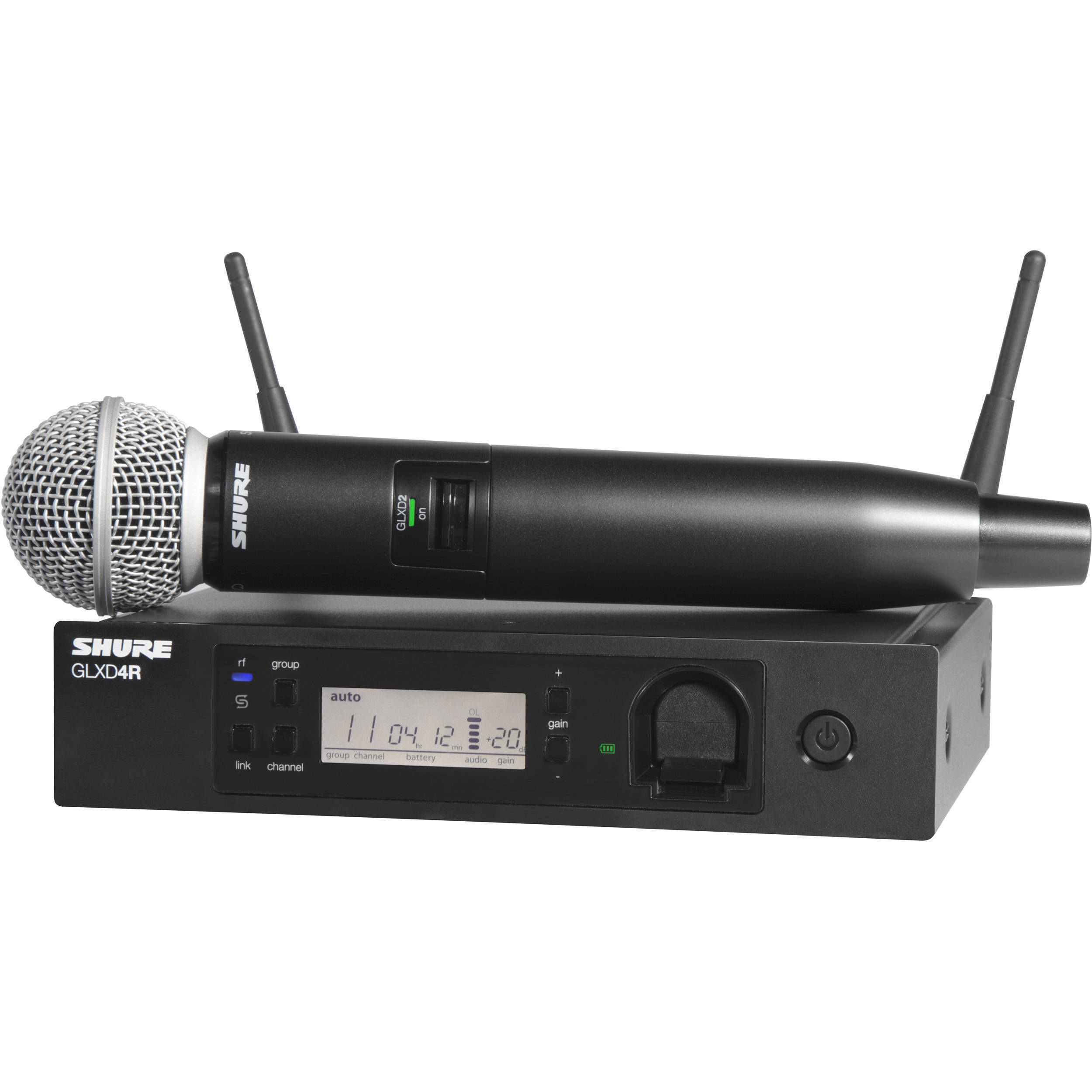 shure glxd24r sm58 handheld wireless system glxd24r sm58 z2 b h. Black Bedroom Furniture Sets. Home Design Ideas
