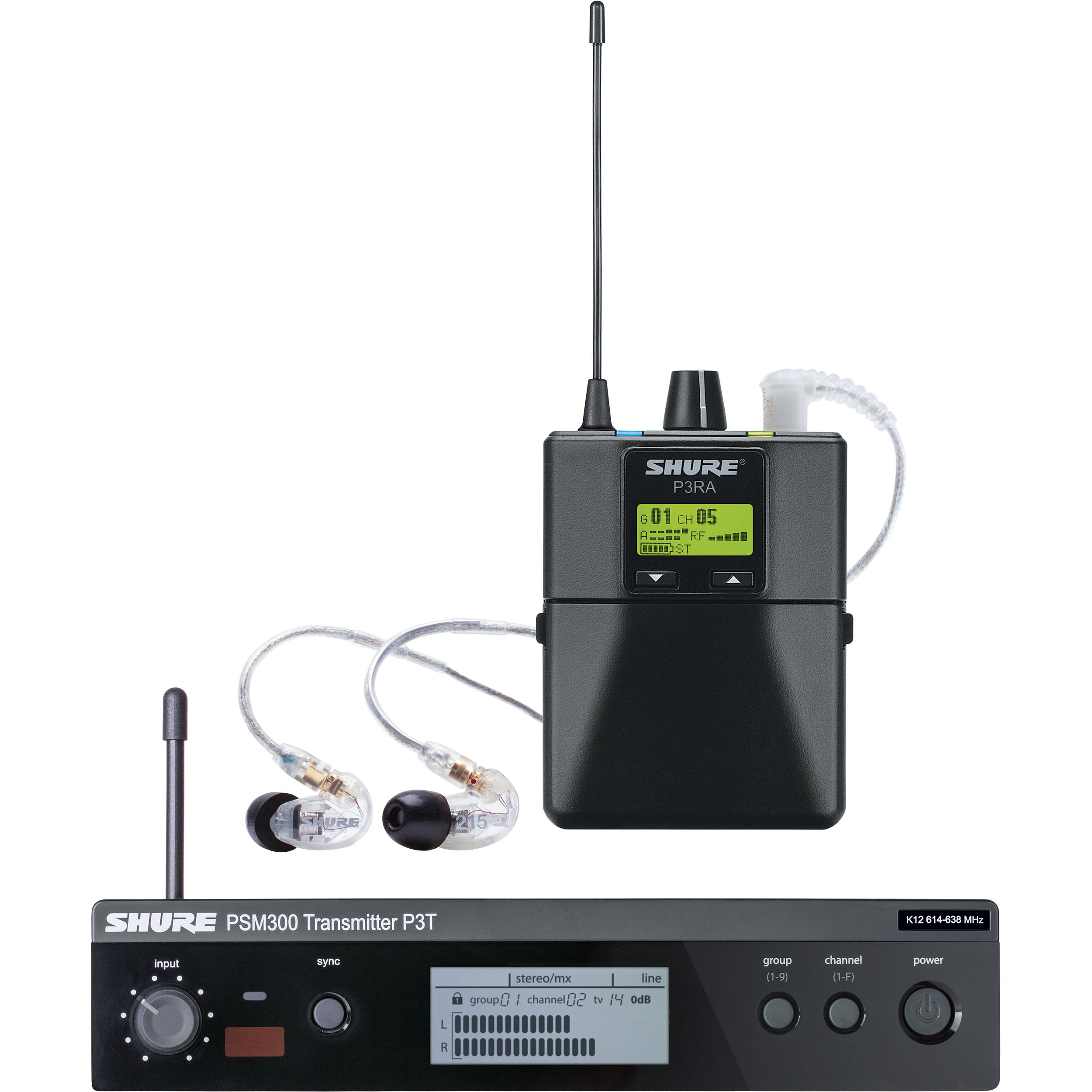 Shure PSM 9 Stereo Personal Monitor System with IEM (H9: 9-9 MHz)