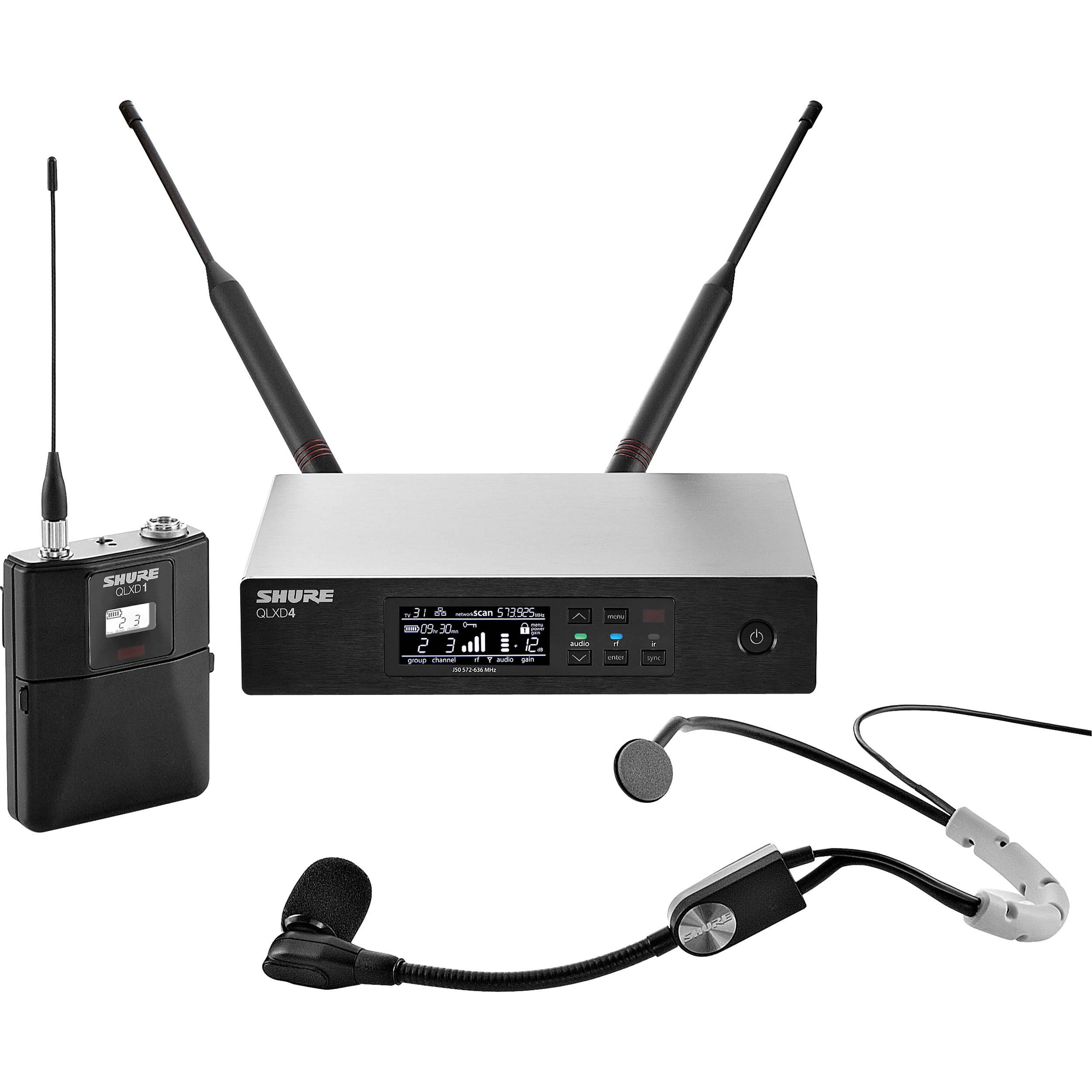 shure qlxd14 sm35 wireless headworn microphone qlxd14 sm35 h50. Black Bedroom Furniture Sets. Home Design Ideas