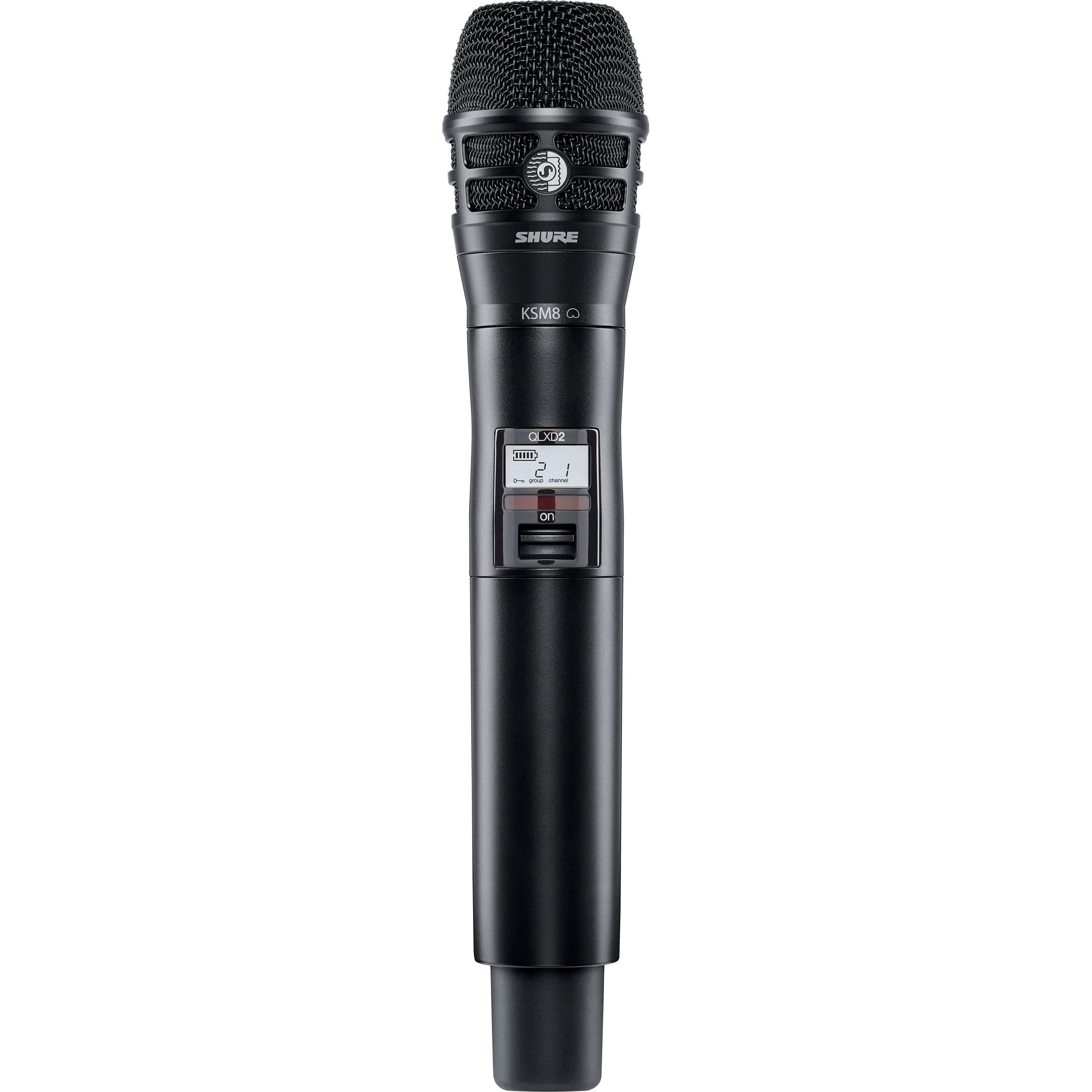 Handheld Wireless Microphone Transmitter : shure qlxd2 ksm8 digital handheld wireless qlxd2 k8b h50 b h ~ Hamham.info Haus und Dekorationen