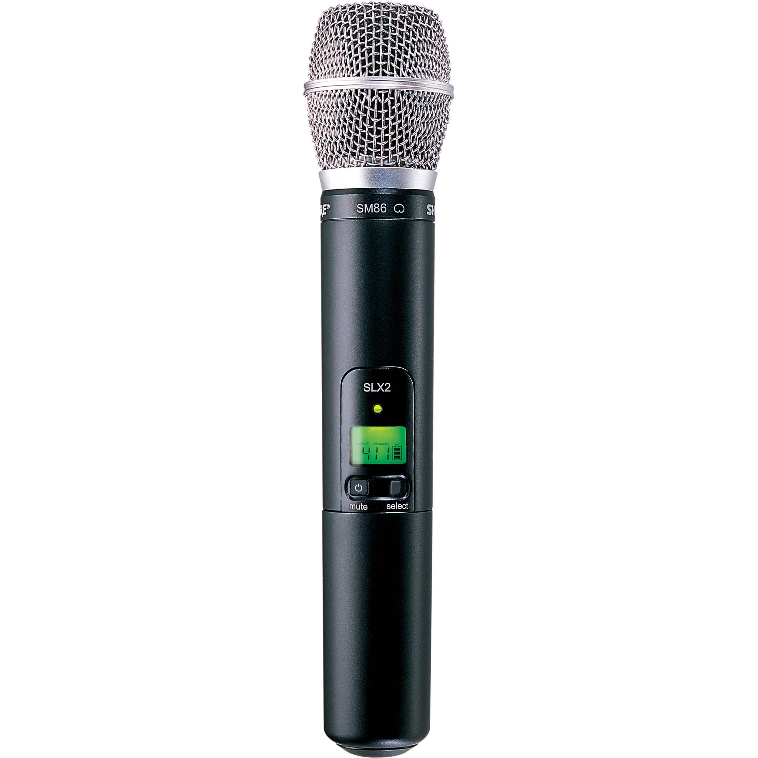 Shure Slx2 Handheld Wireless Uhf Transmitter With Sm58 Microphone : shure slx2 handheld wireless uhf transmitter slx2 sm86 h19 b h ~ Russianpoet.info Haus und Dekorationen