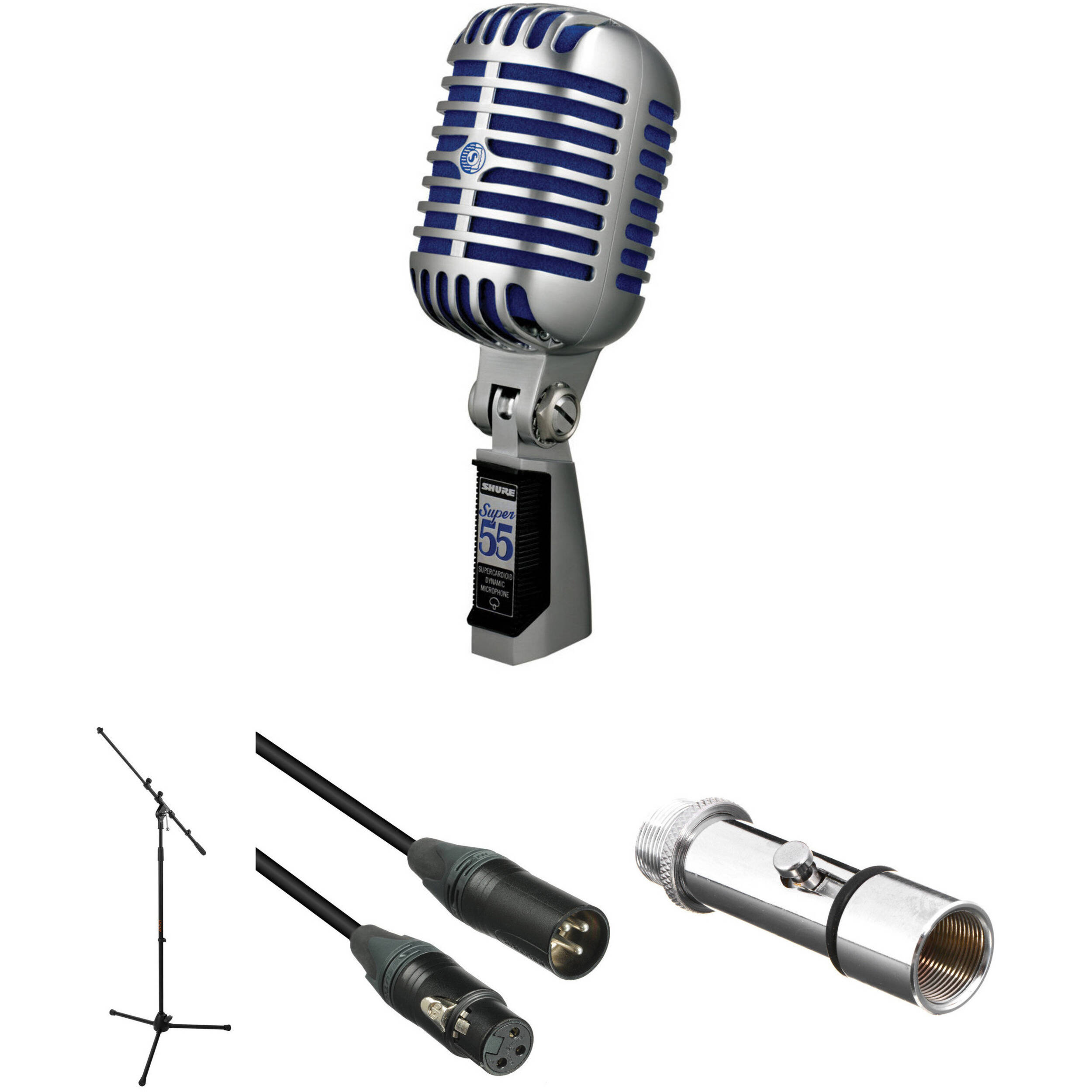 shure super 55 deluxe vocal microphone kit b h photo video. Black Bedroom Furniture Sets. Home Design Ideas