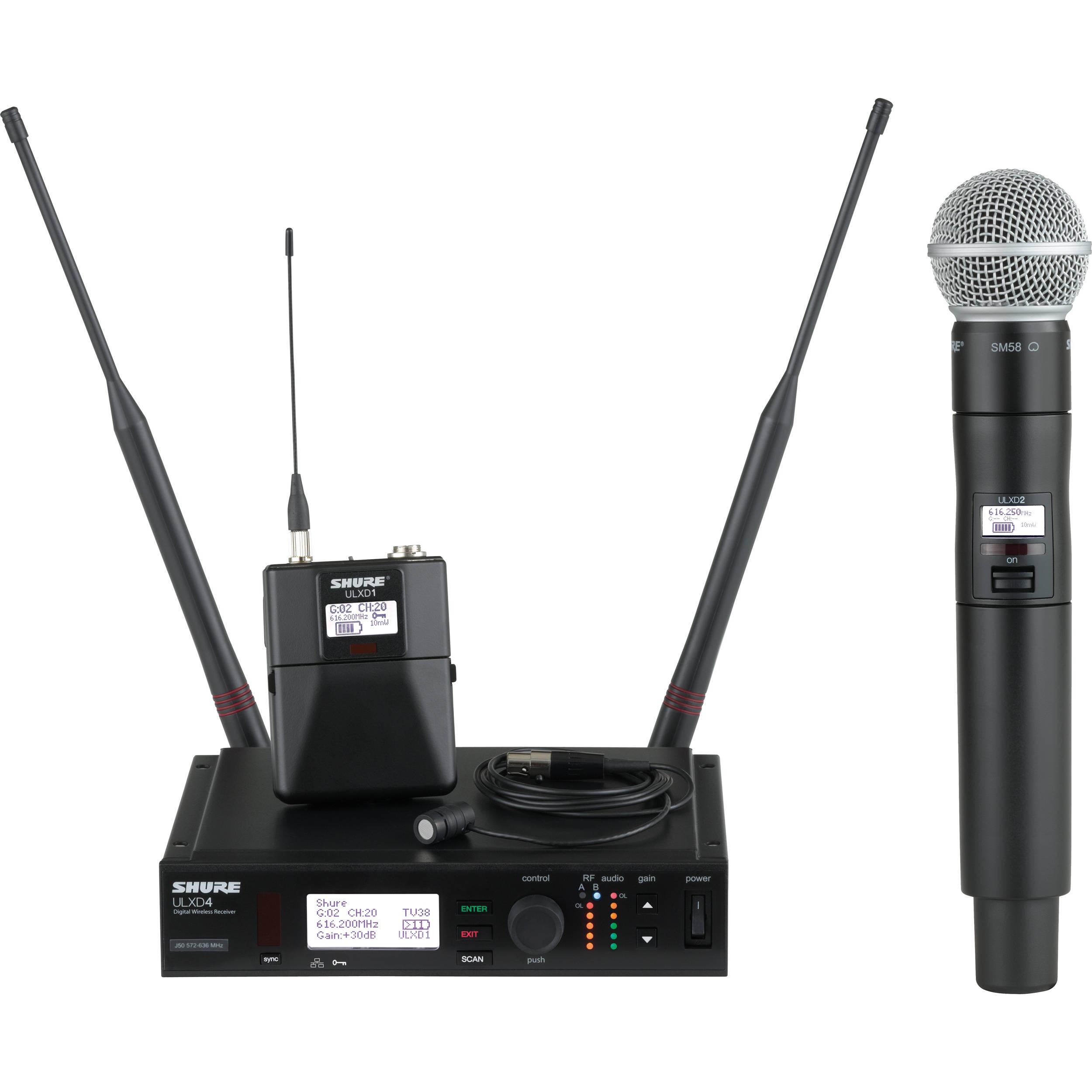 shure ulx d digital wireless combo microphone kit. Black Bedroom Furniture Sets. Home Design Ideas