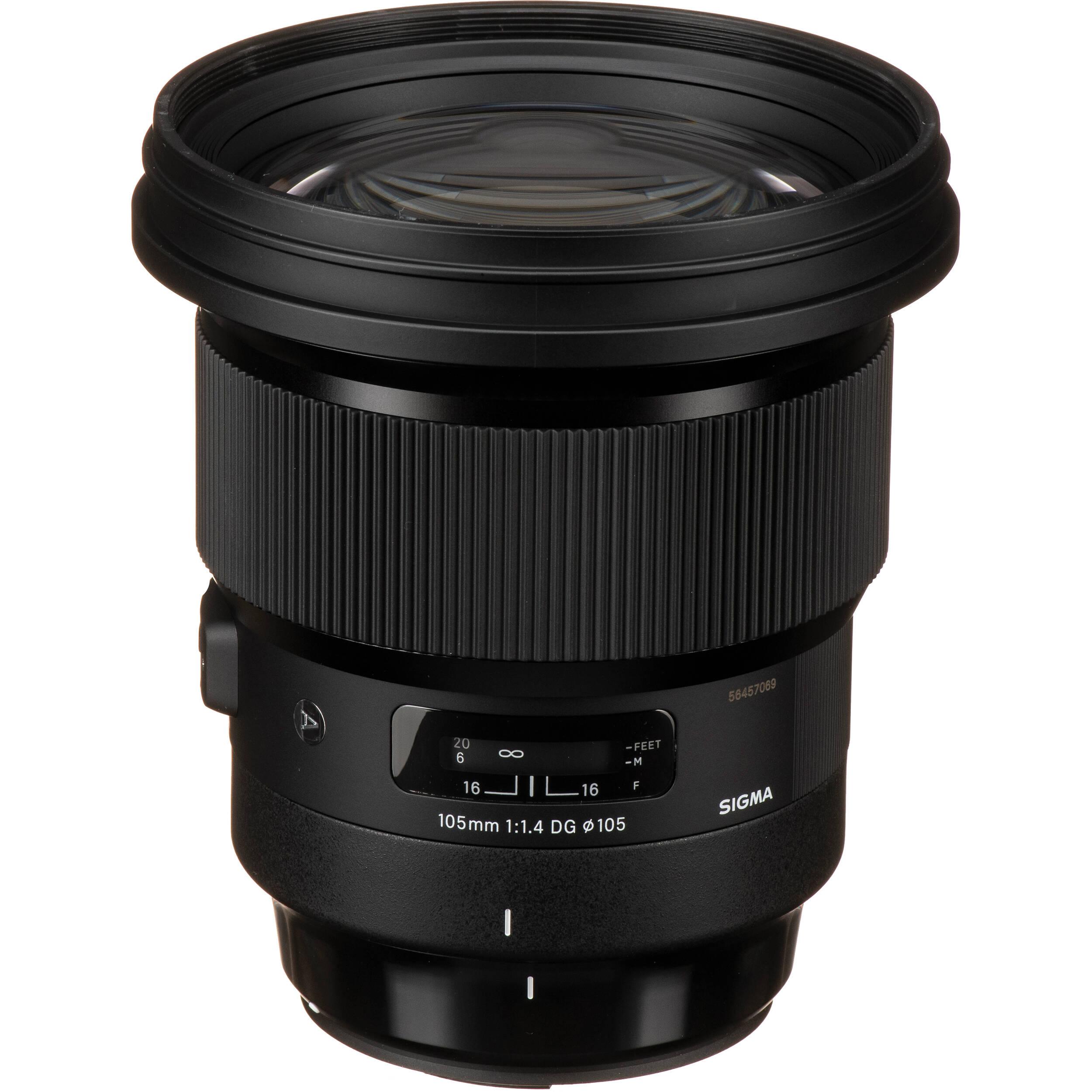 28859591b2f9 Sigma 105mm f 1.4 DG HSM Art Lens for Canon EF 259954 B H Photo