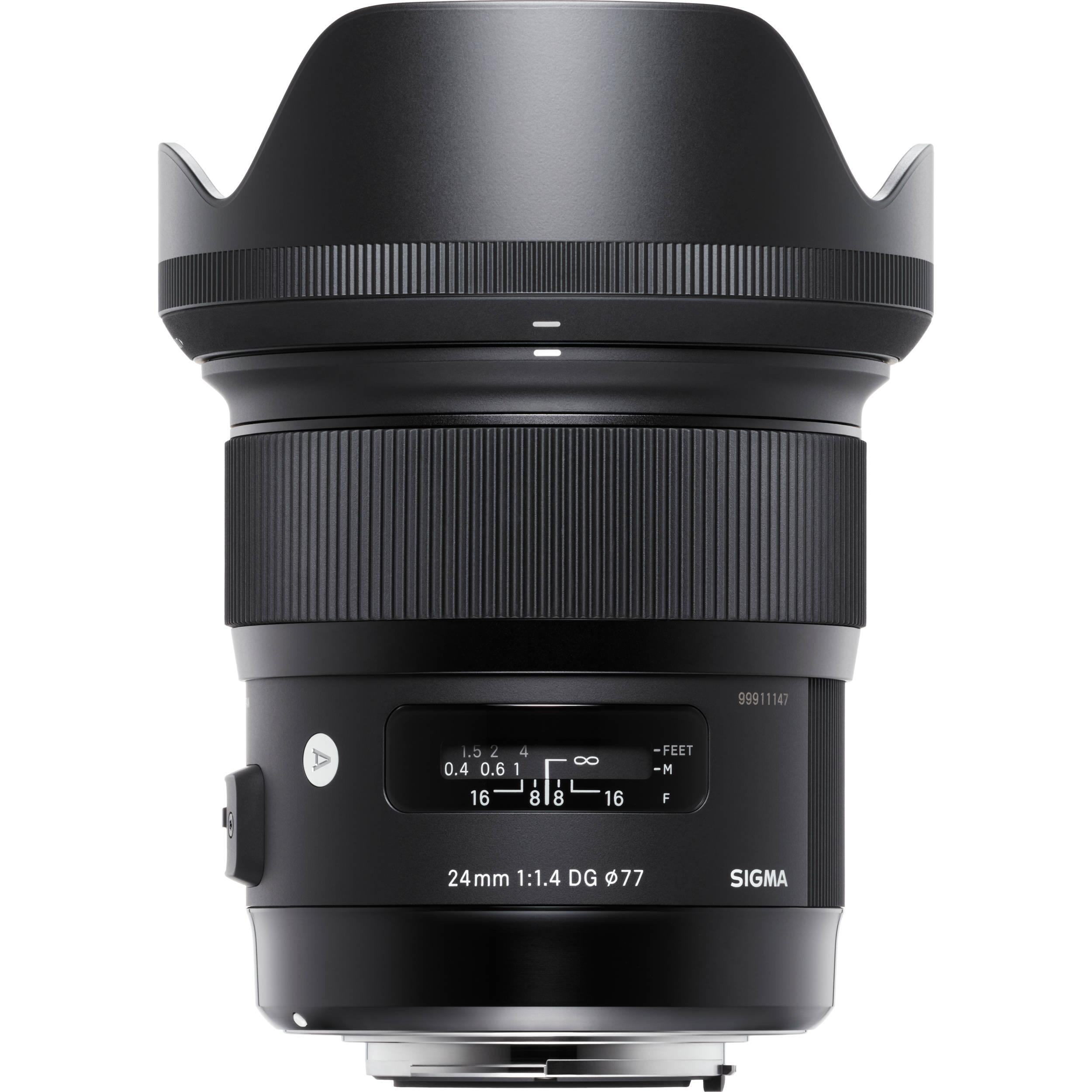 Sigma 24mm F 1 4 Dg Hsm Art Lens For Canon Ef 401 101 B Amp H