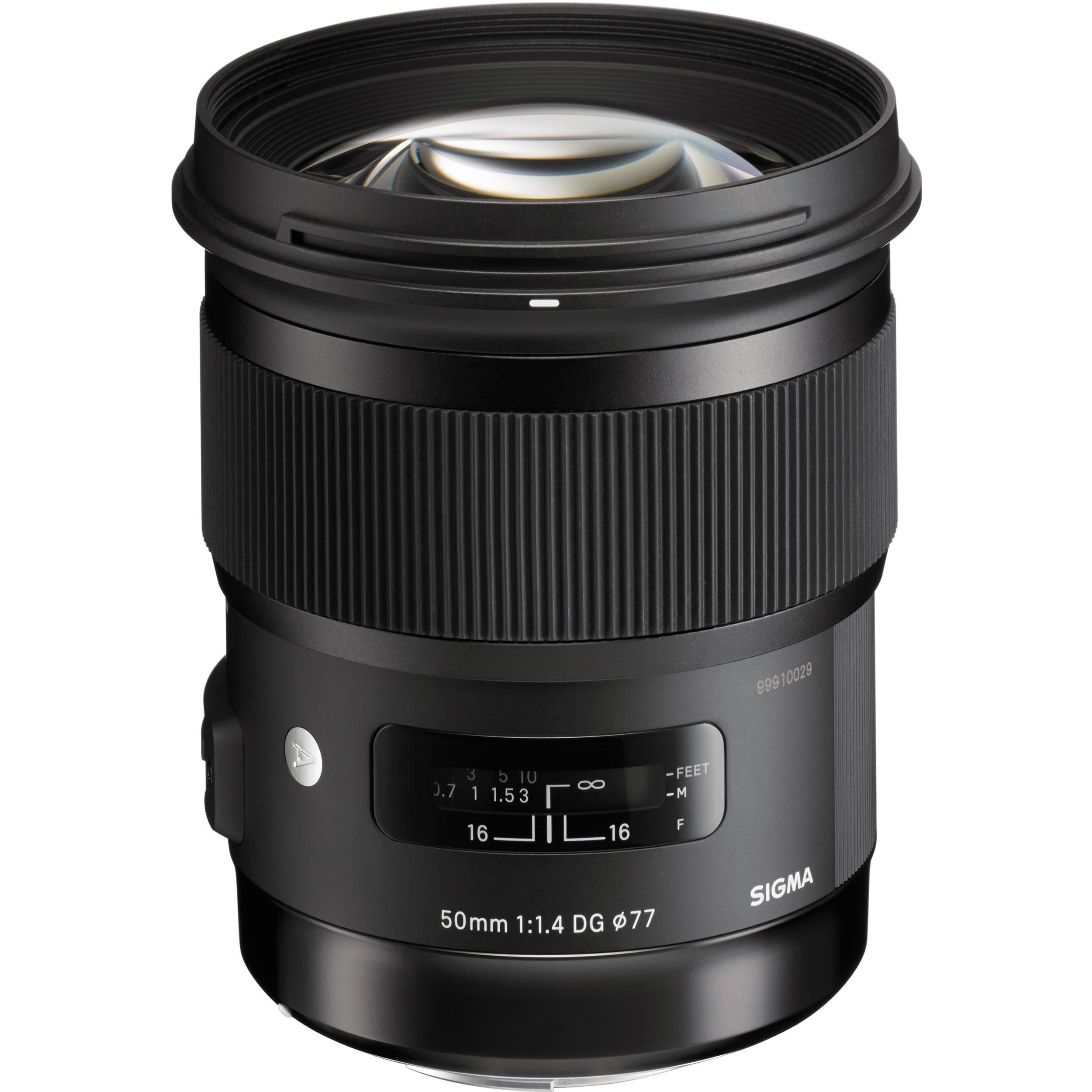 Sigma 50mm F 1 4 Dg Hsm Art Lens For Sigma Sa 311110 B Amp H Photo