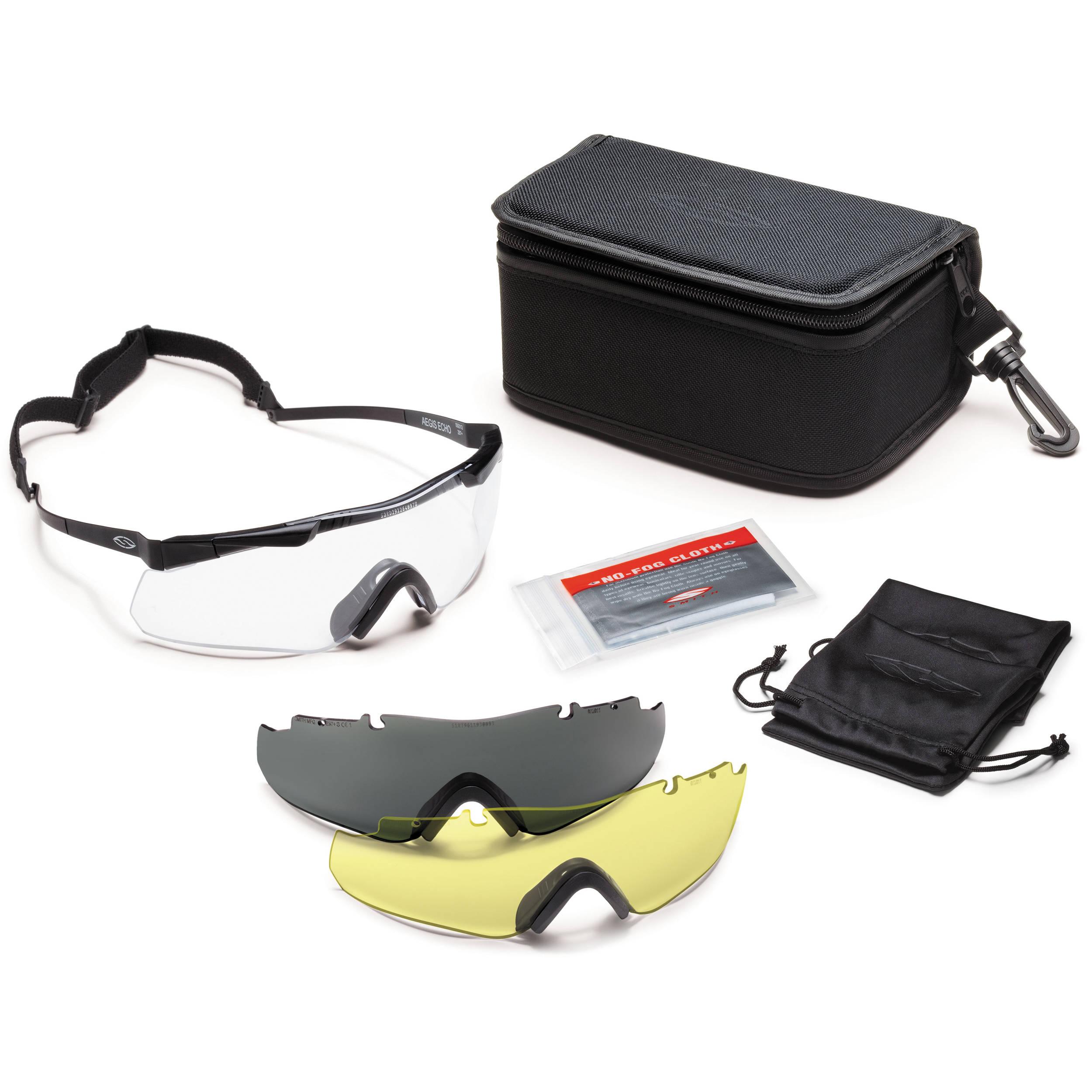 0f98d97161bd1 Smith Optics Aegis Echo Protective Eyewear - Deluxe AECHABK12-3R