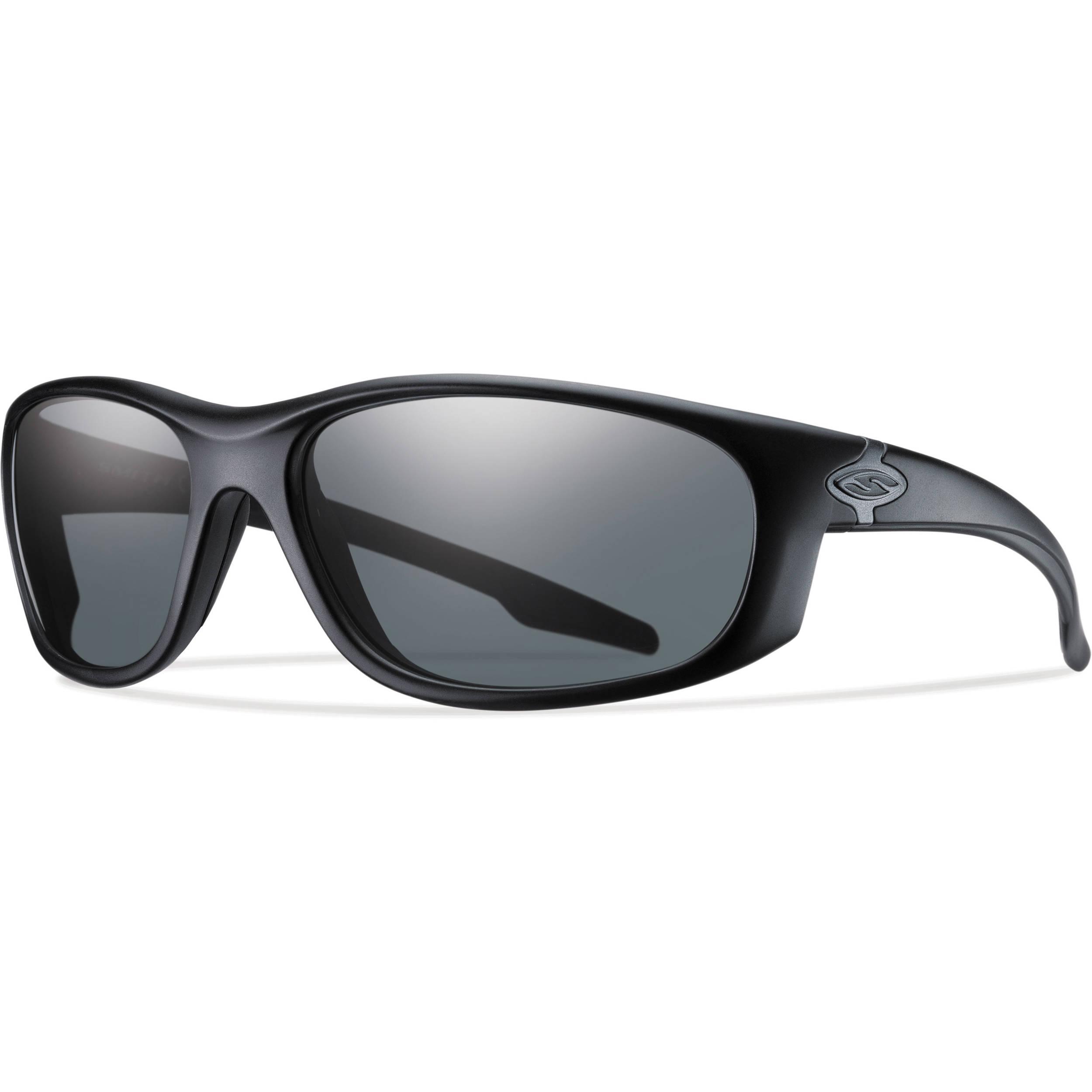 ba258258ef Smith Optics Chamber Elite Tactical Sunglasses (Black - Polarized Gray Lens)