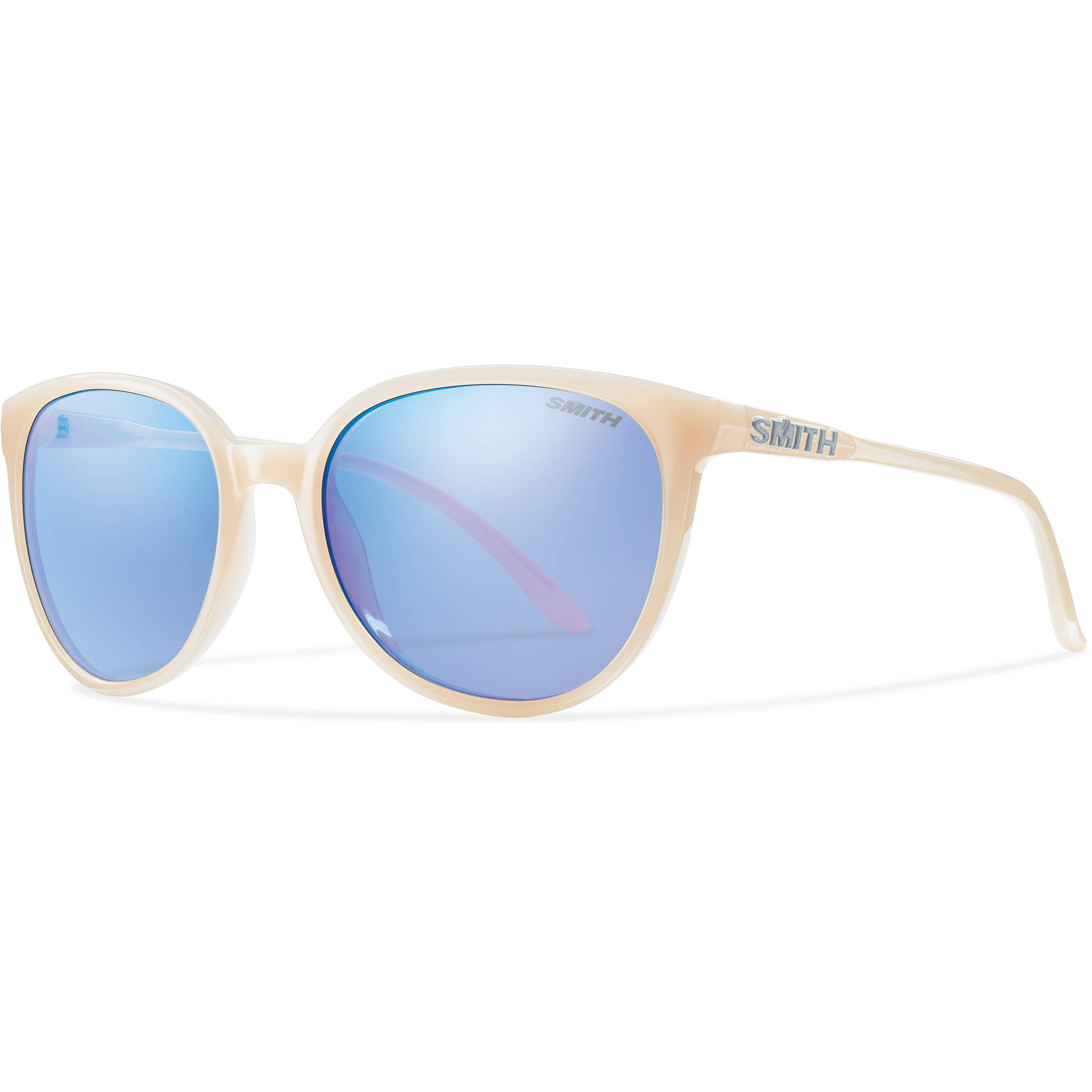 369d97b6b15 Smith Optics Cheetah Women s Sunglasses with Blue Flash Mirror Lenses (Nude  Frames)