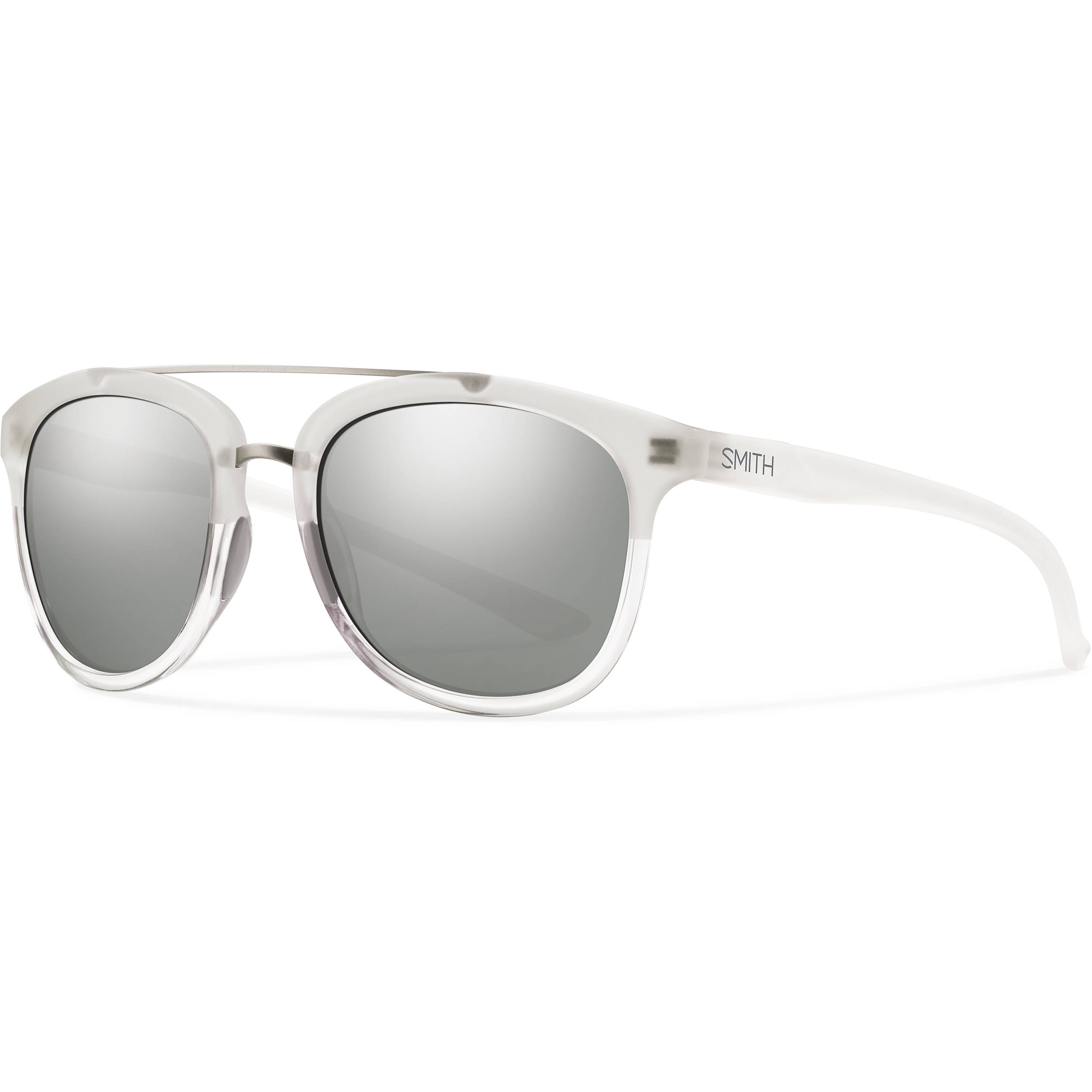 ae9027292ab51 Smith Optics Clayton Sunglasses with Super Platinum Mirror Coating (Crystal  Split Frame)