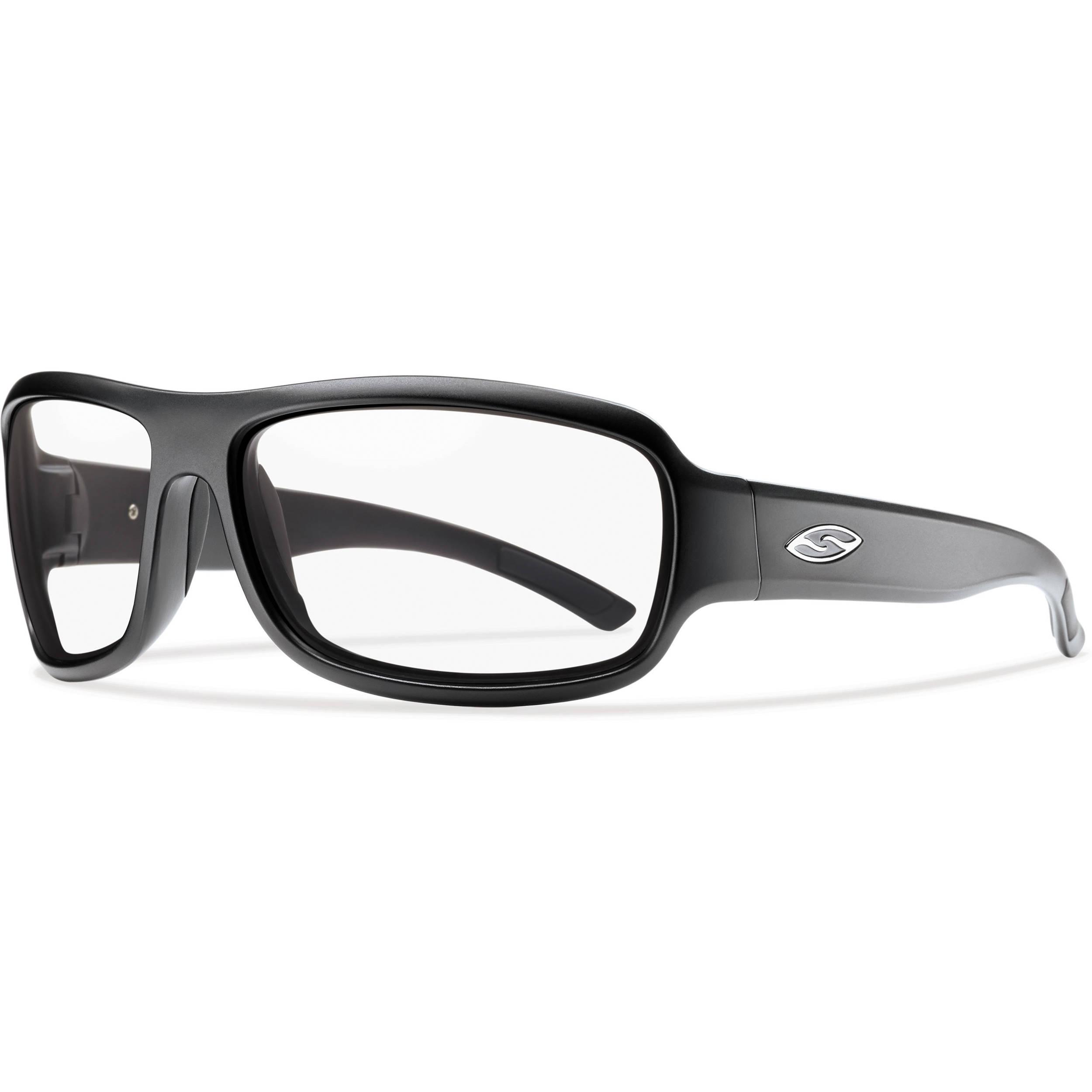 b610c381da5 Smith Optics Drop Elite Tactical Sunglasses (Matte Black - Clear Lens)