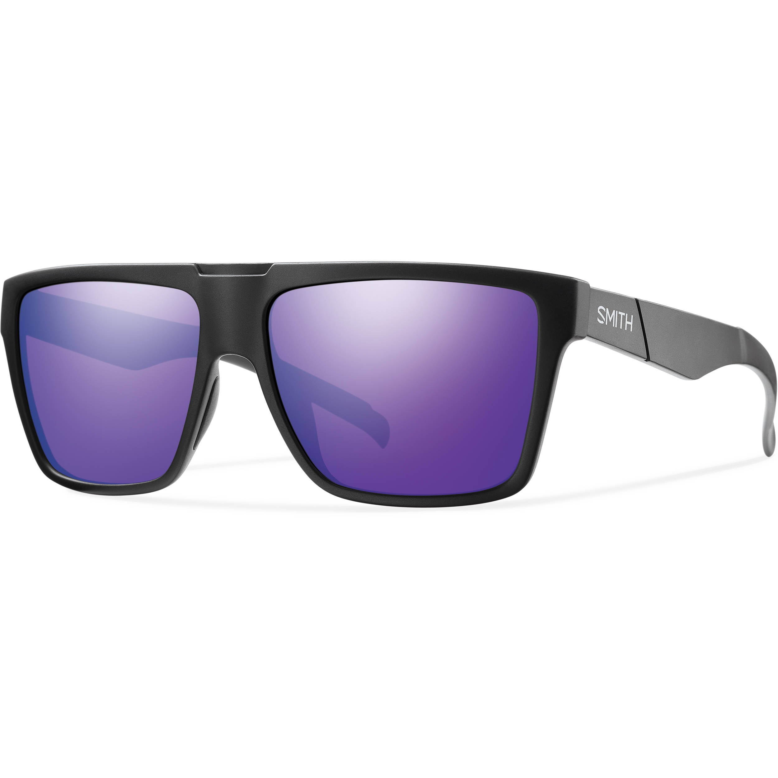 53397da745 Smith Optics Men s Edgewood Sunglasses (Purple Sol-X Mirror Lenses   Matte  Black Frames)