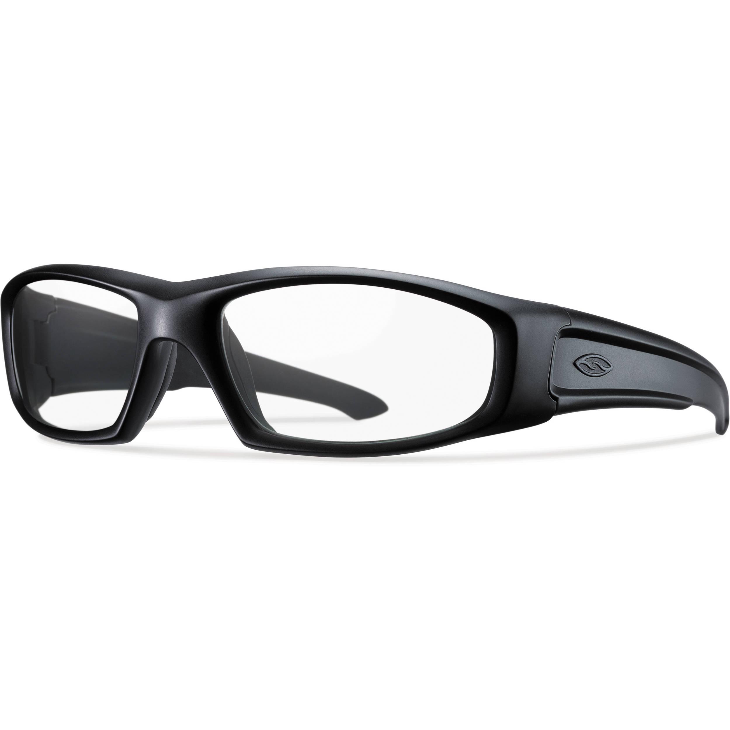 e246d05e93 Smith Optics Hudson Elite Tactical Sunglasses (Black - Clear Lens)