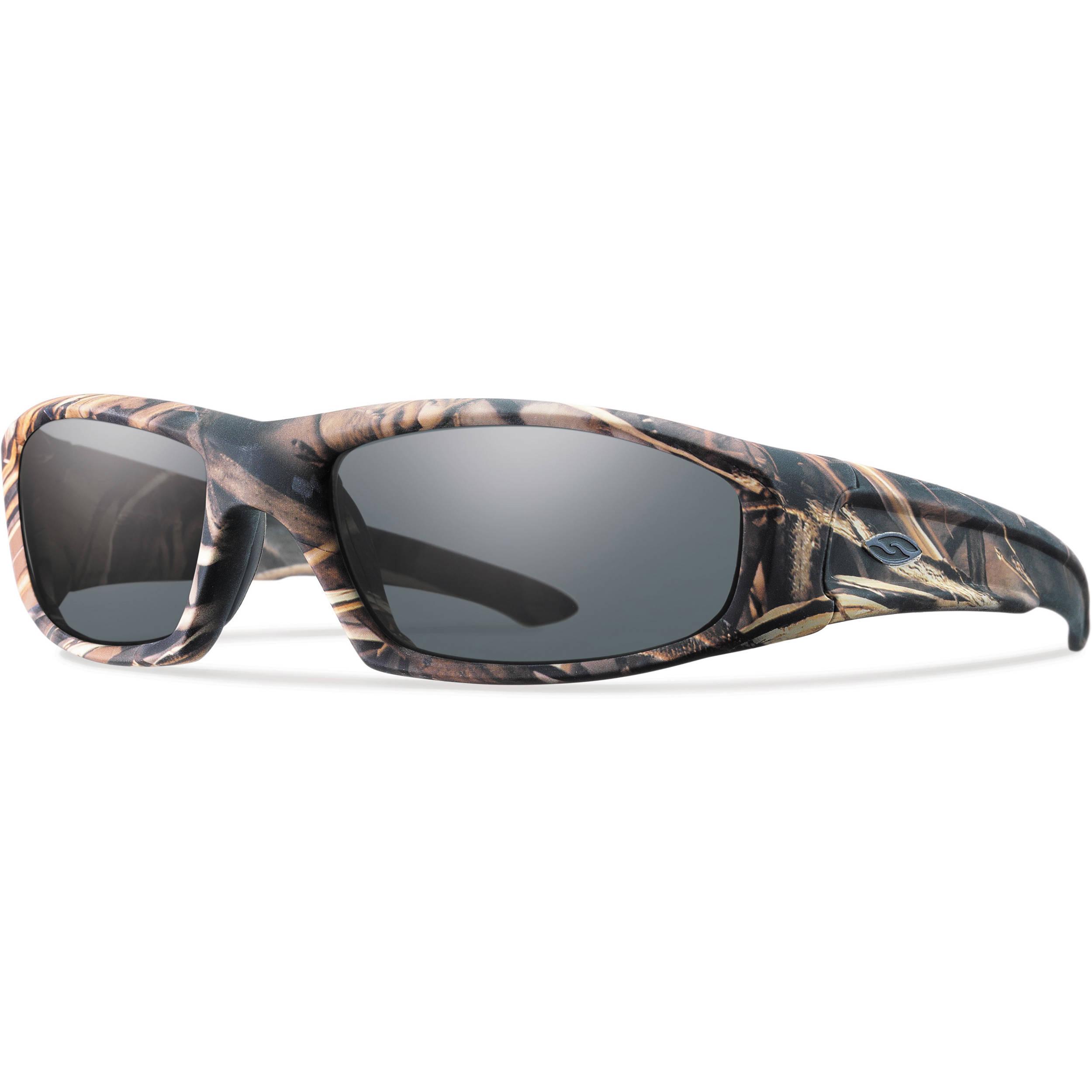 dde6d79399b Smith Optics Hudson Elite Tactical Sunglasses (Realtree Max-4 - Gray Lens)