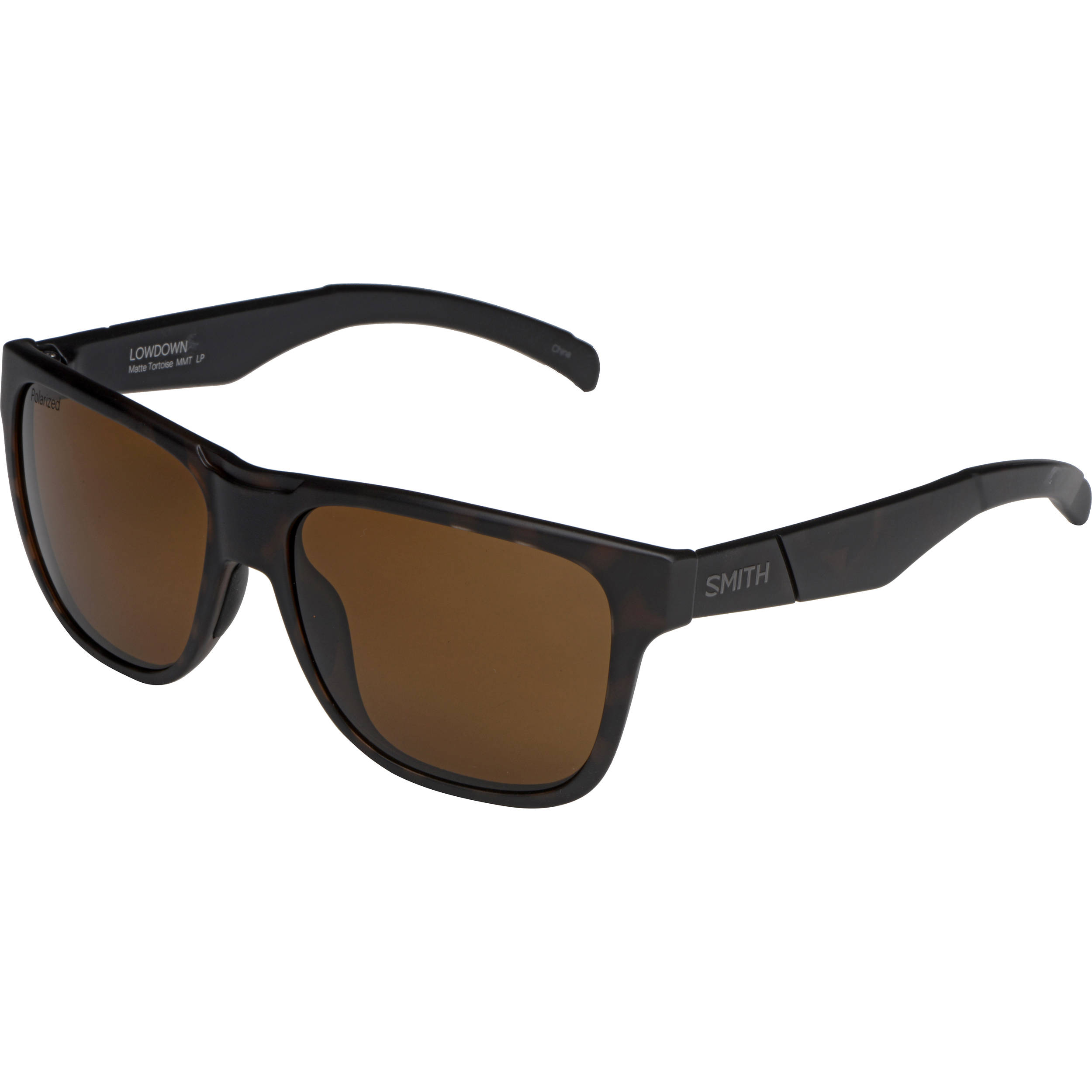 9ab652c492 Smith Optics Lowdown Sunglasses with Polarized Brown Lenses (Matte Tortoise  Frames)