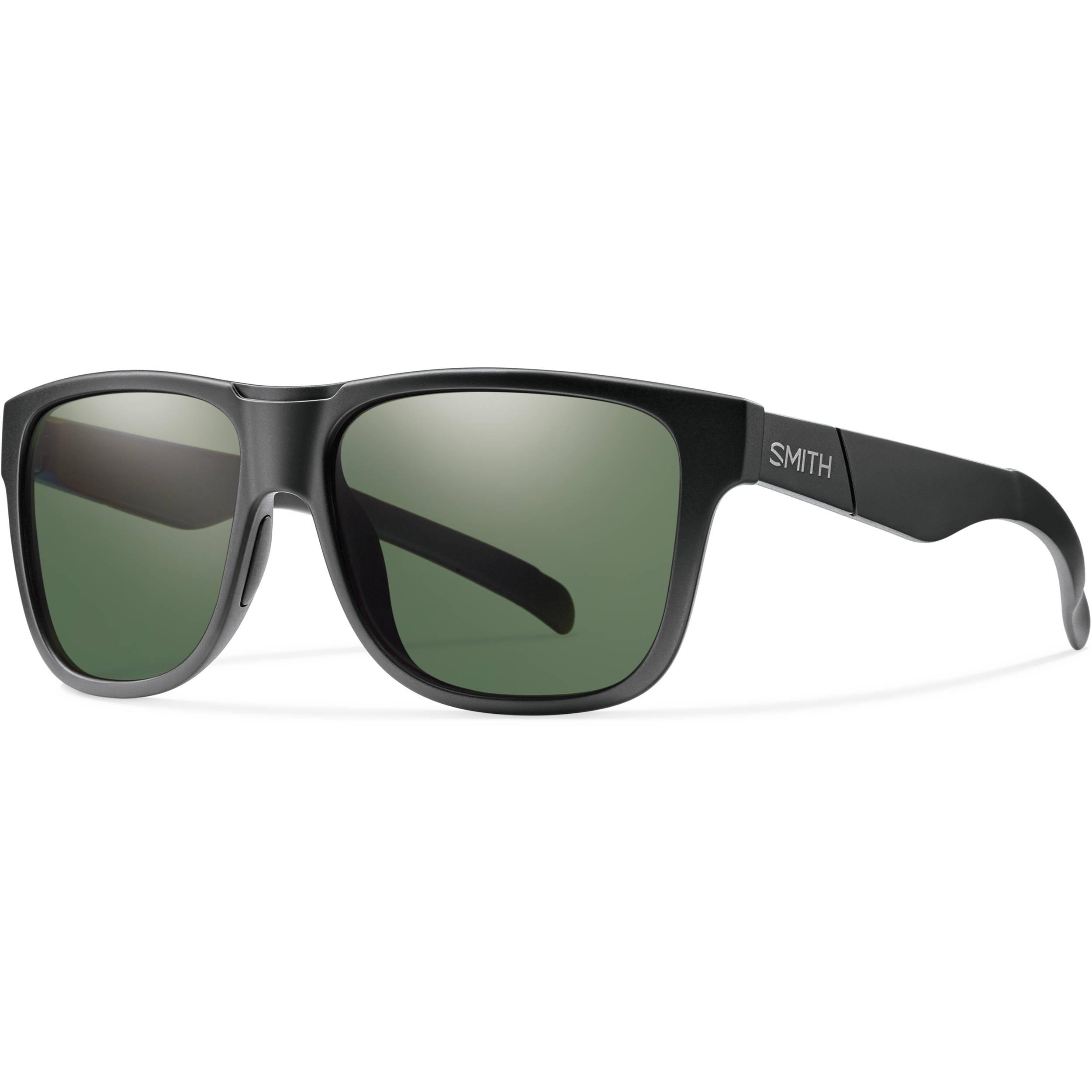 9018c6e97f Smith Optics Lowdown XL Men s Sunglasses with Polarized Gray-Green Lenses (Matte  Black Frame)